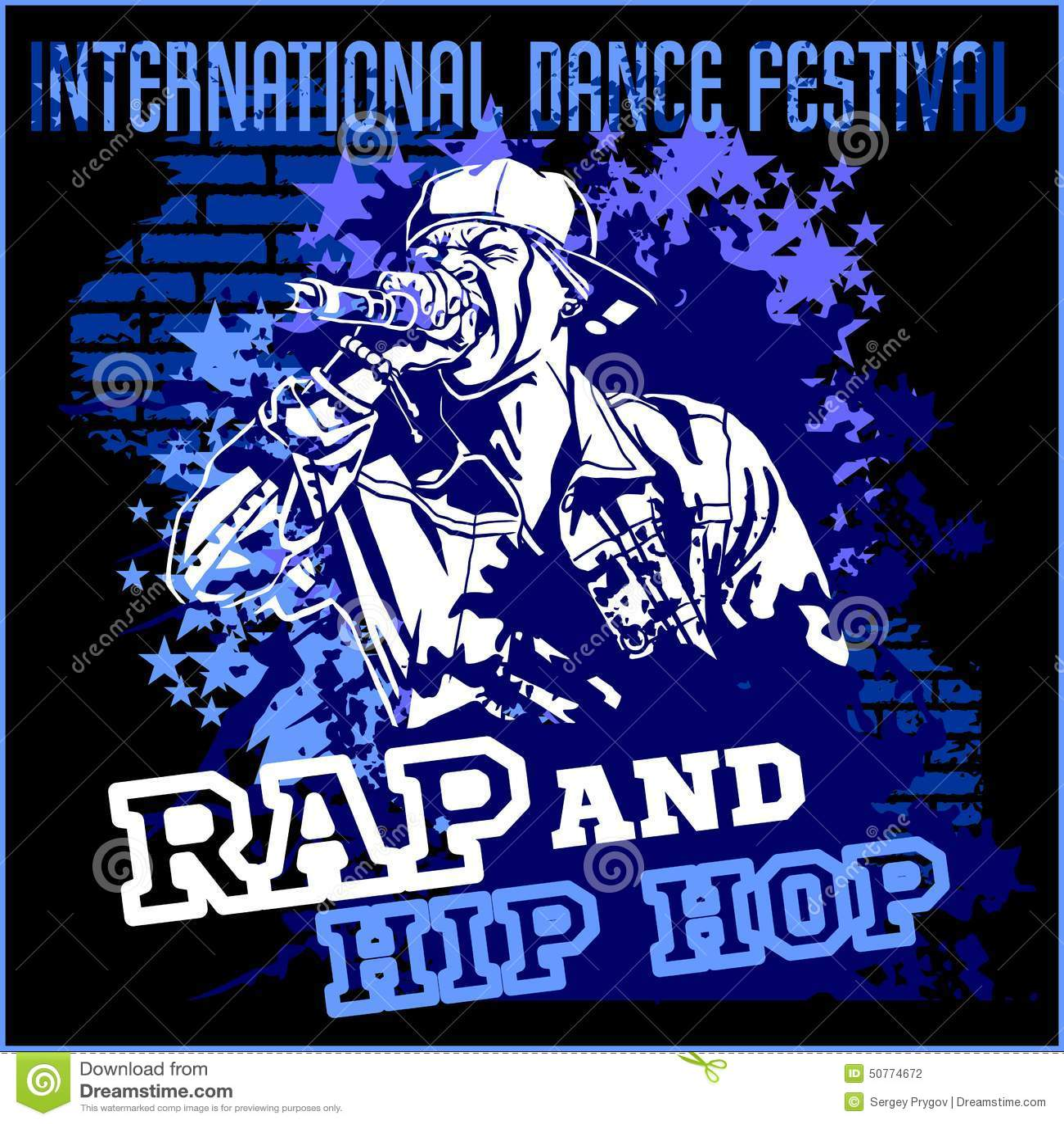 a3ba11243e7f8 Pintada Del Hip-hop Del Rap - Cartel Del Vector Ilustración del ...