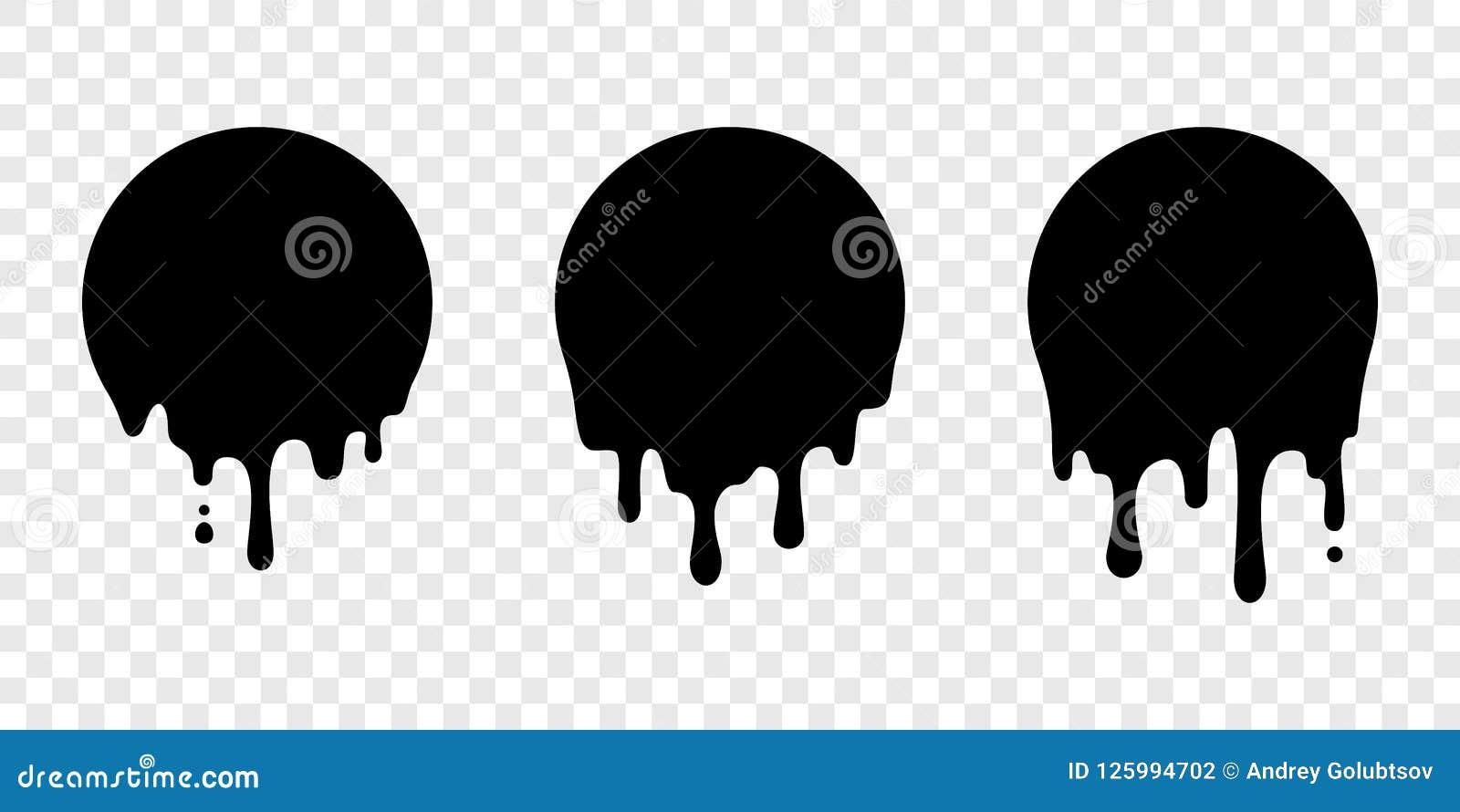 Pinte el descenso del líquido del vector de la etiqueta del círculo de la etiqueta engomada del goteo