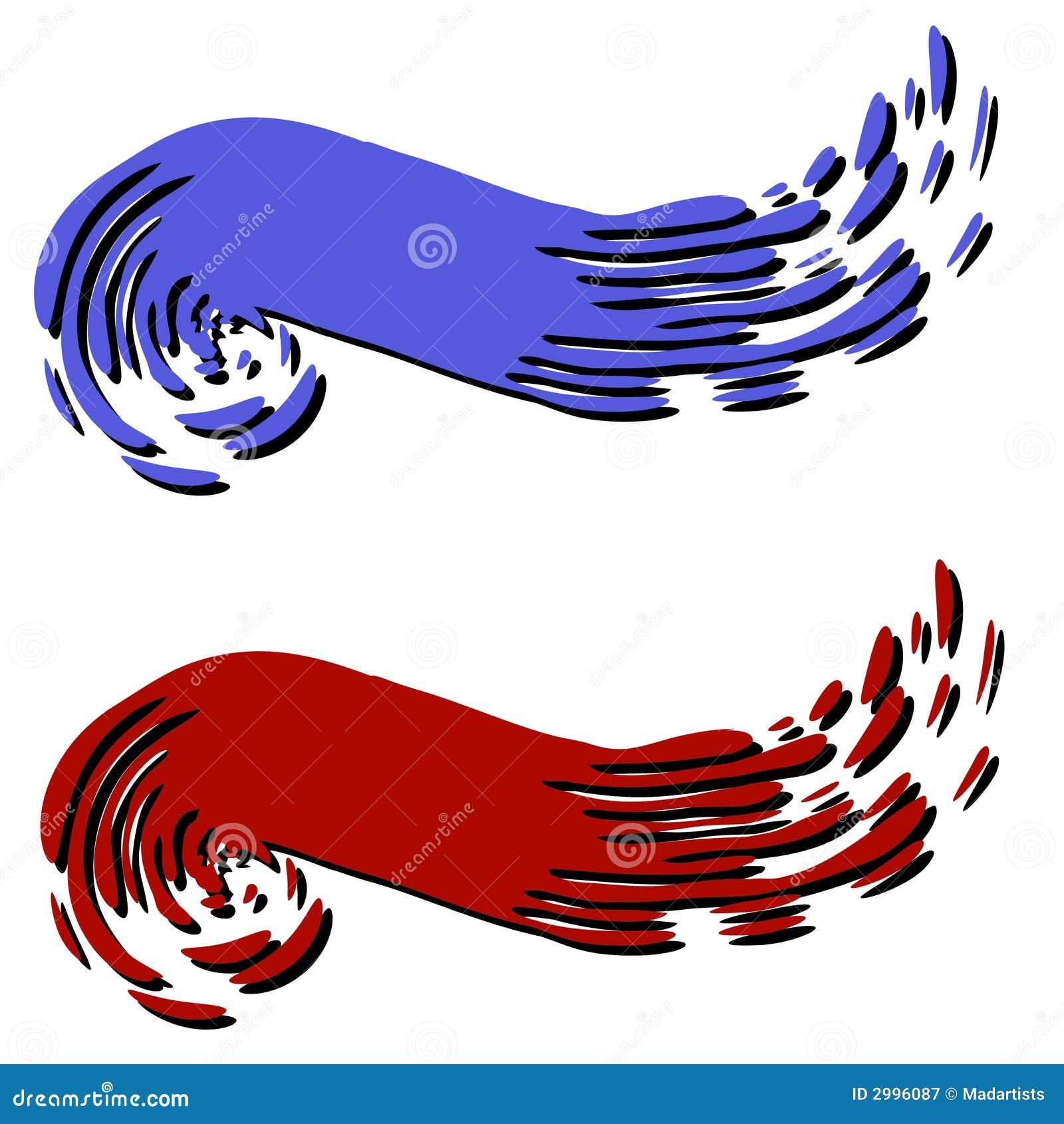 Pinte las insignias 2 del Web page del remolino