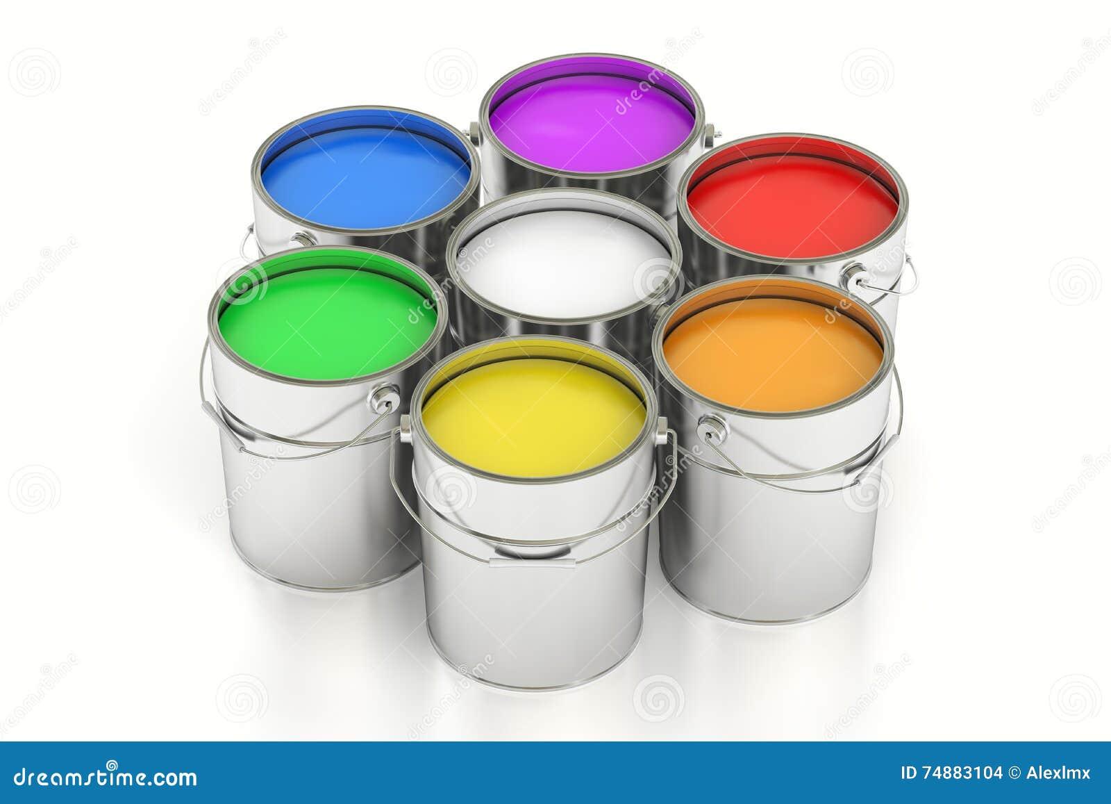 Pinte latas, rendição 3D