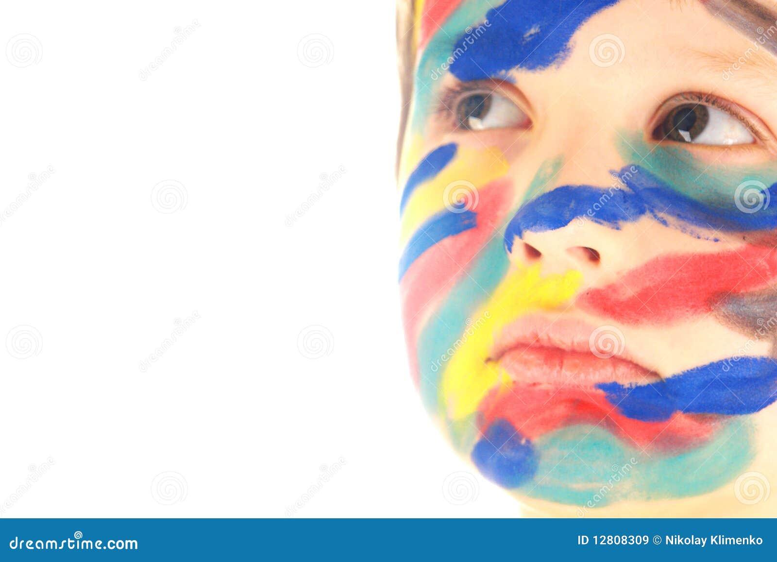 Pinte o retrato da face