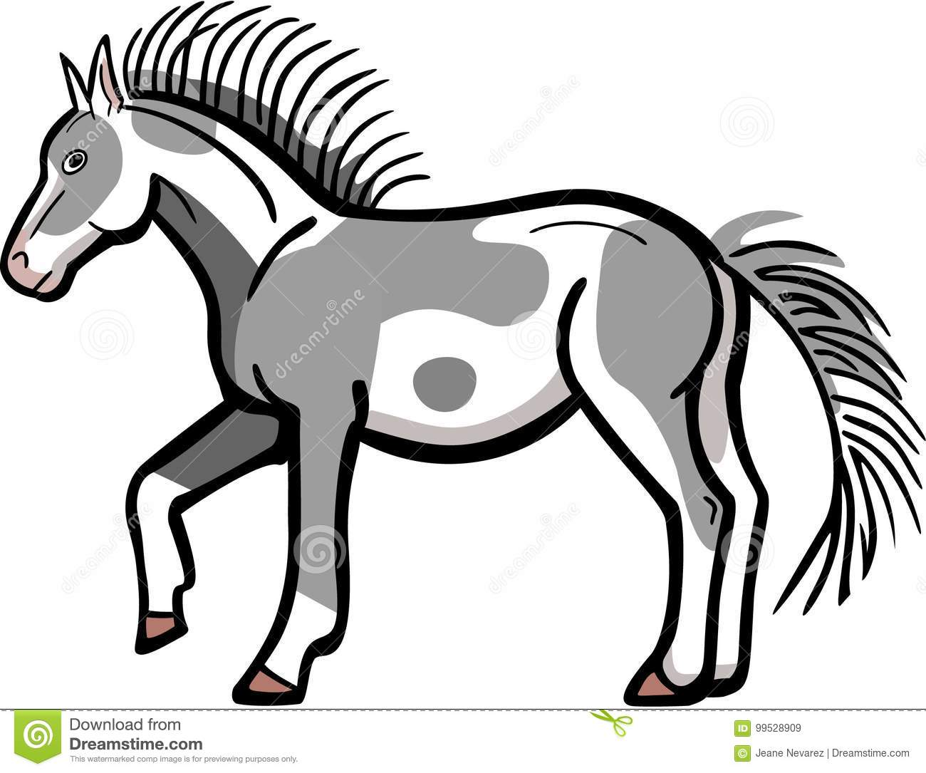 Pinto Horse Coloring Pages: Pinto Cartoons, Illustrations & Vector Stock Images