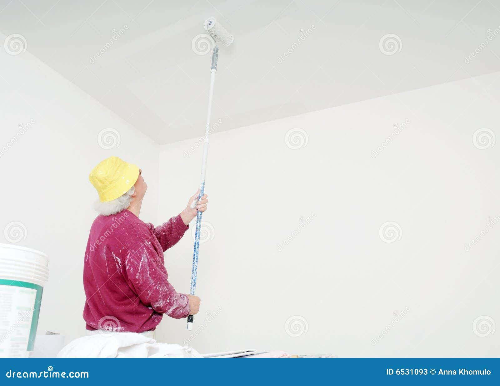Pintor de trabajo imagen de archivo imagen de casa - Trabajo de pintor en barcelona ...