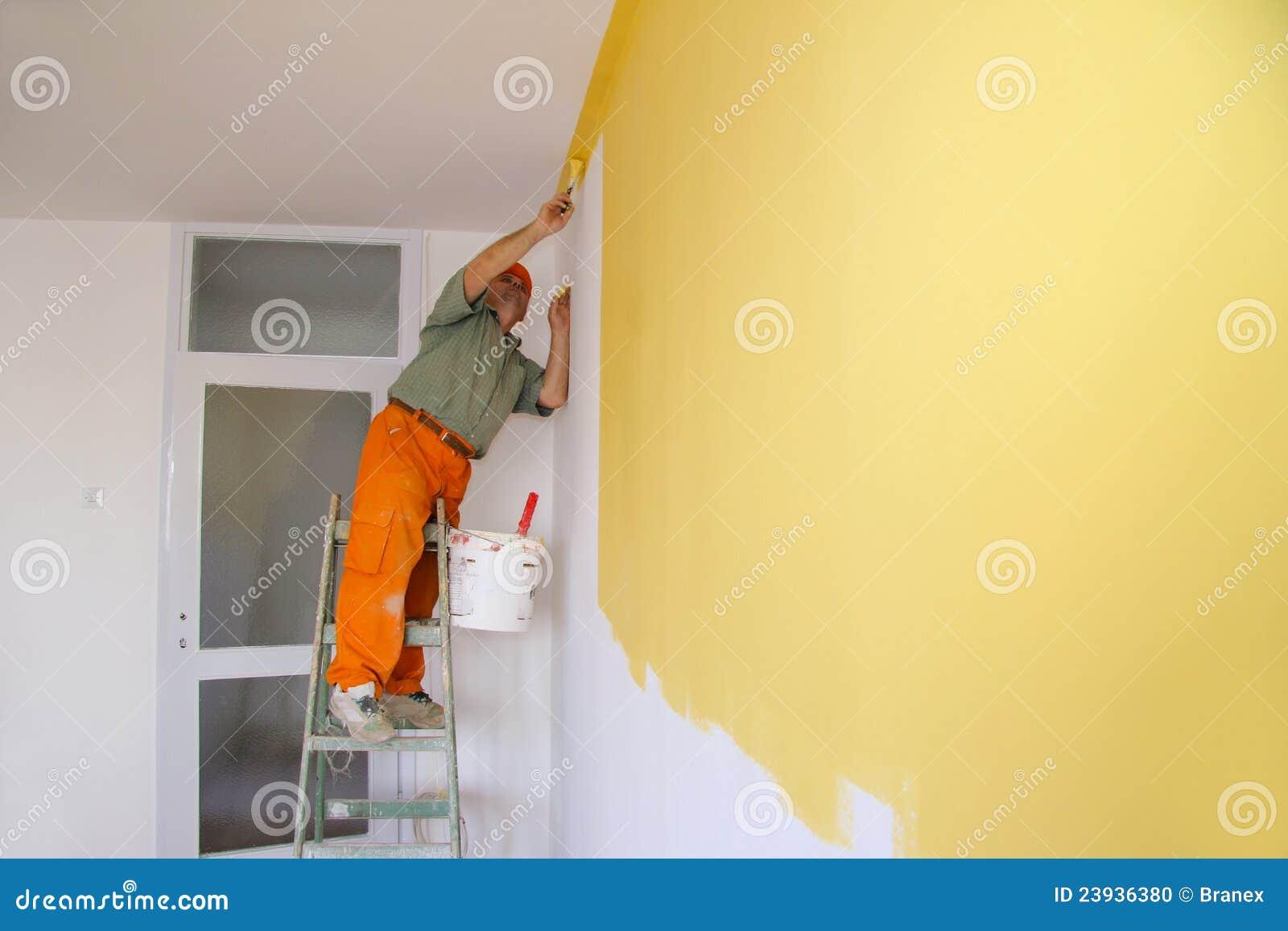 Pintor en la acción