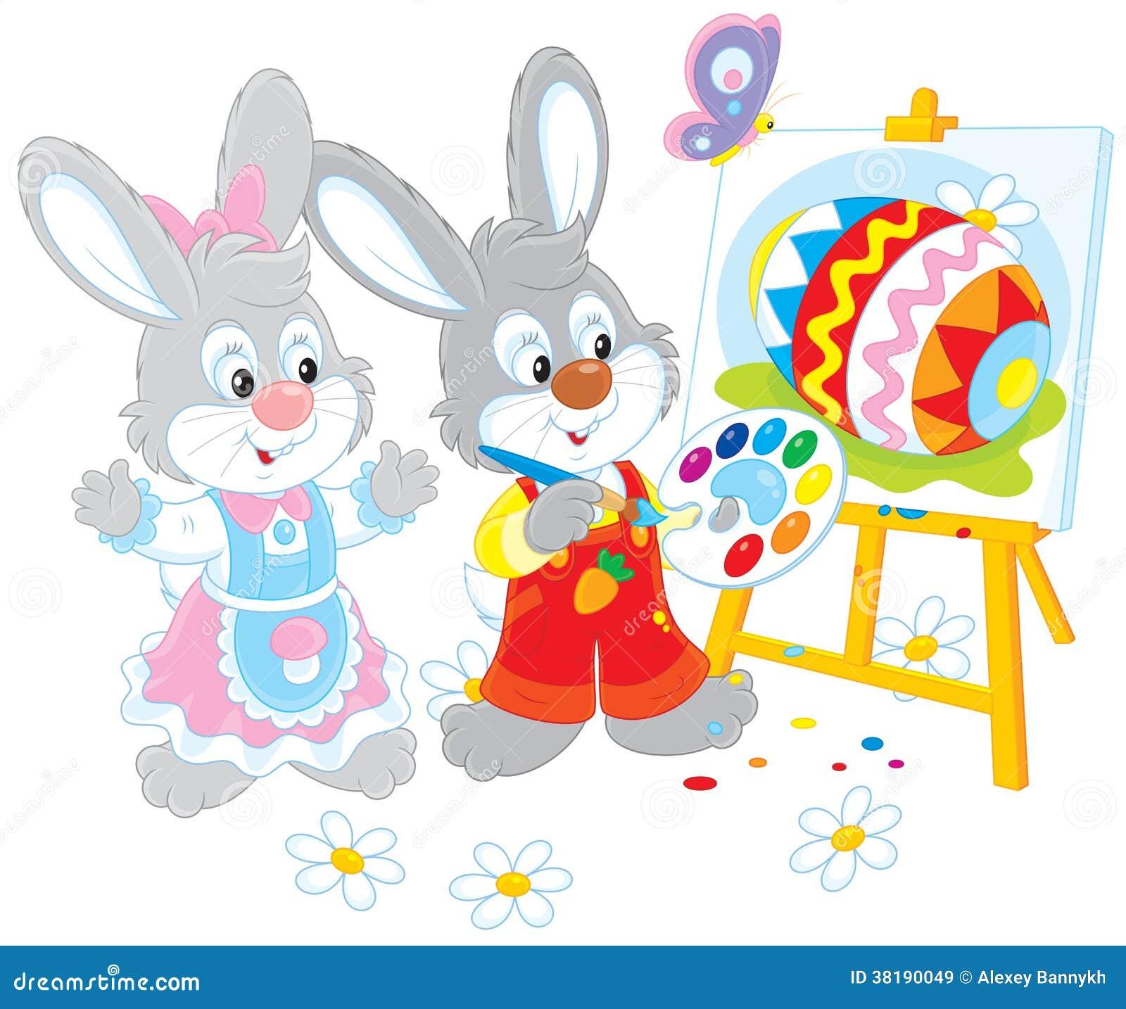 Pintores dos coelhinhos da Páscoa