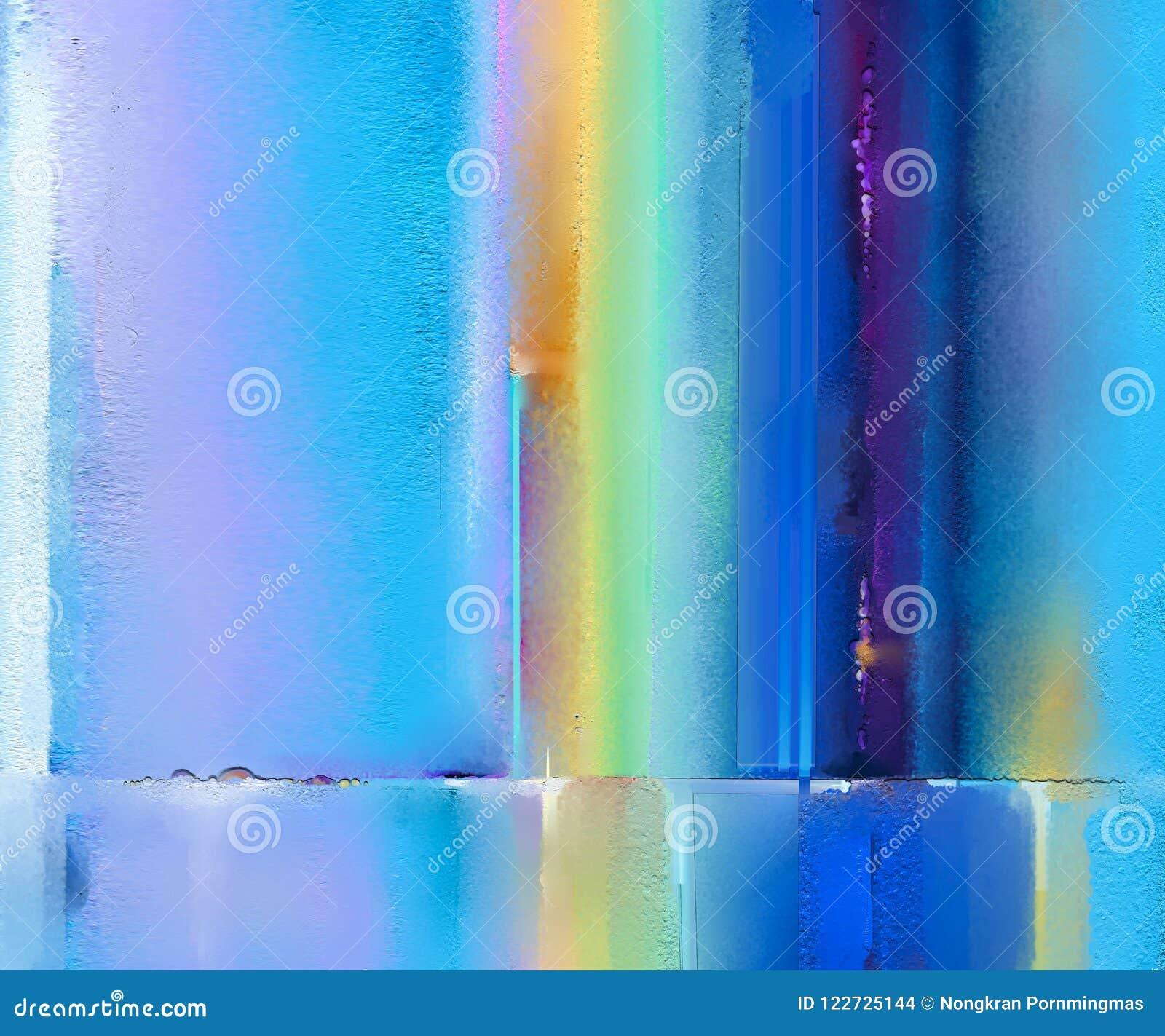 Pintura a óleo colorida abstrata na textura da lona Imagem abstrata Semi- do fundo das pinturas de paisagem