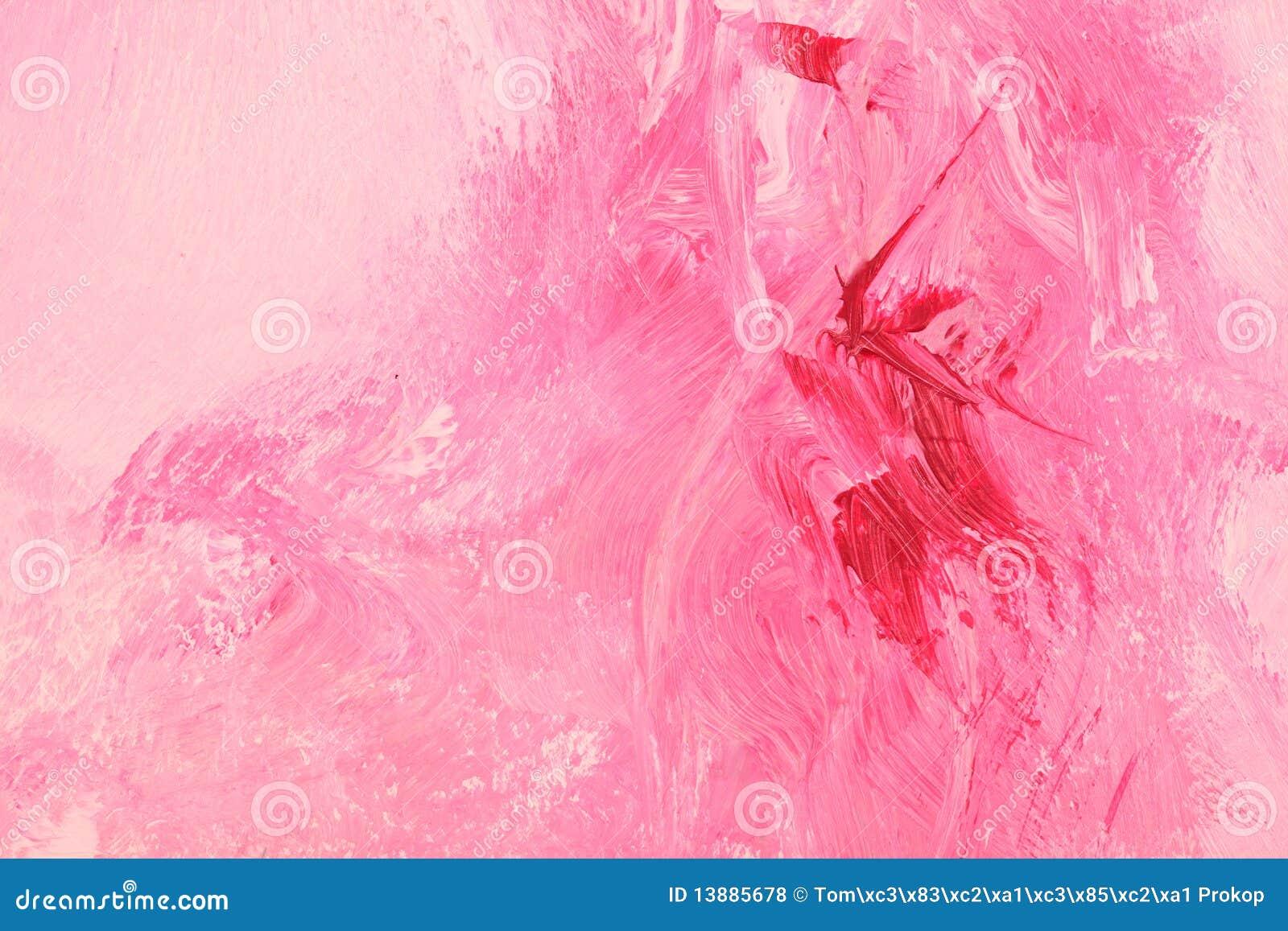 Pintura a óleo cor-de-rosa