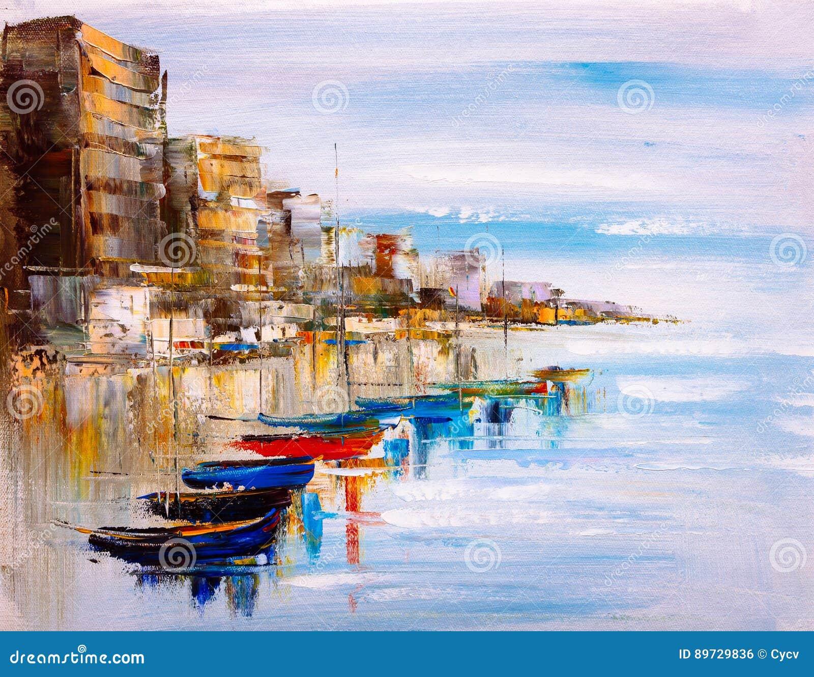 Pintura a óleo - opinião do porto