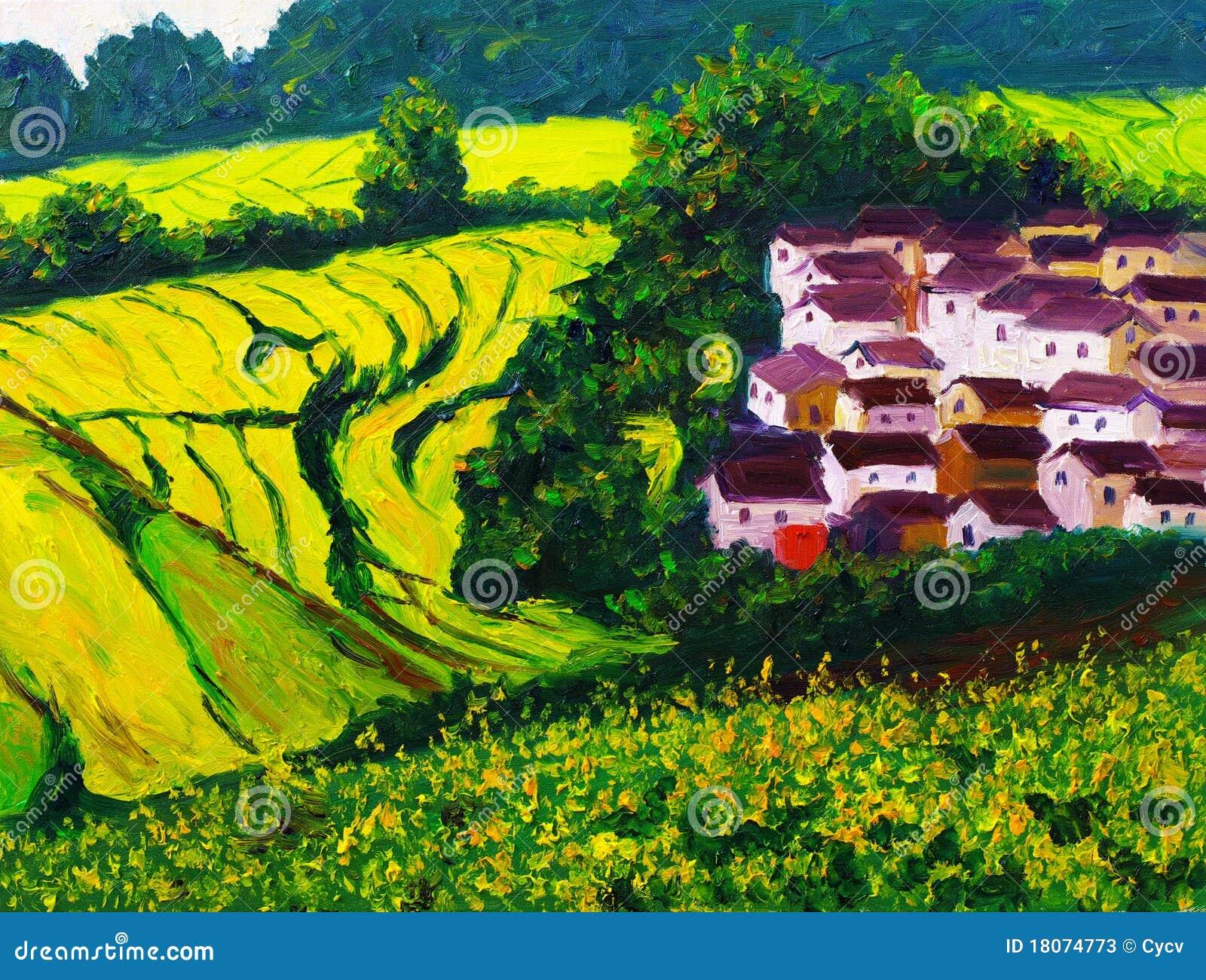 Pintura a óleo - paisagem