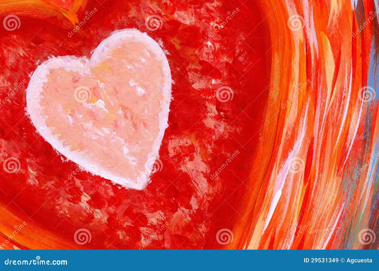 Pintura abstrata do coração