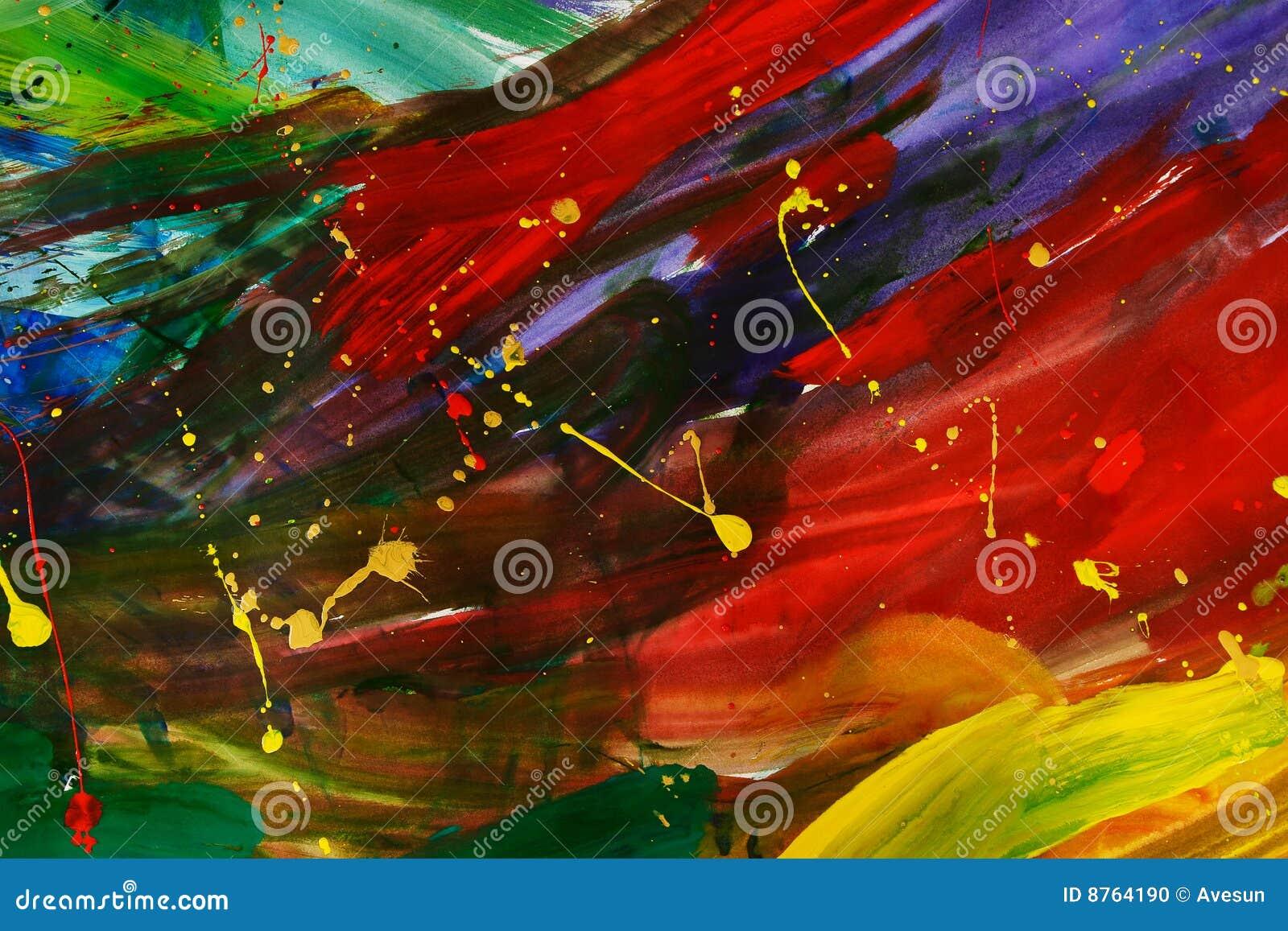 Pintura abstrata do gouache