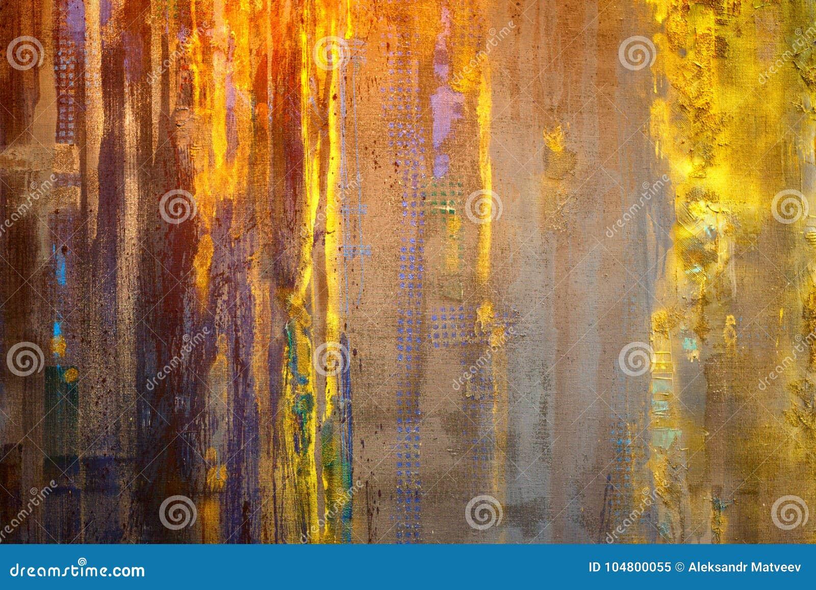Pintura abstrata Textured Fundo pintado mão