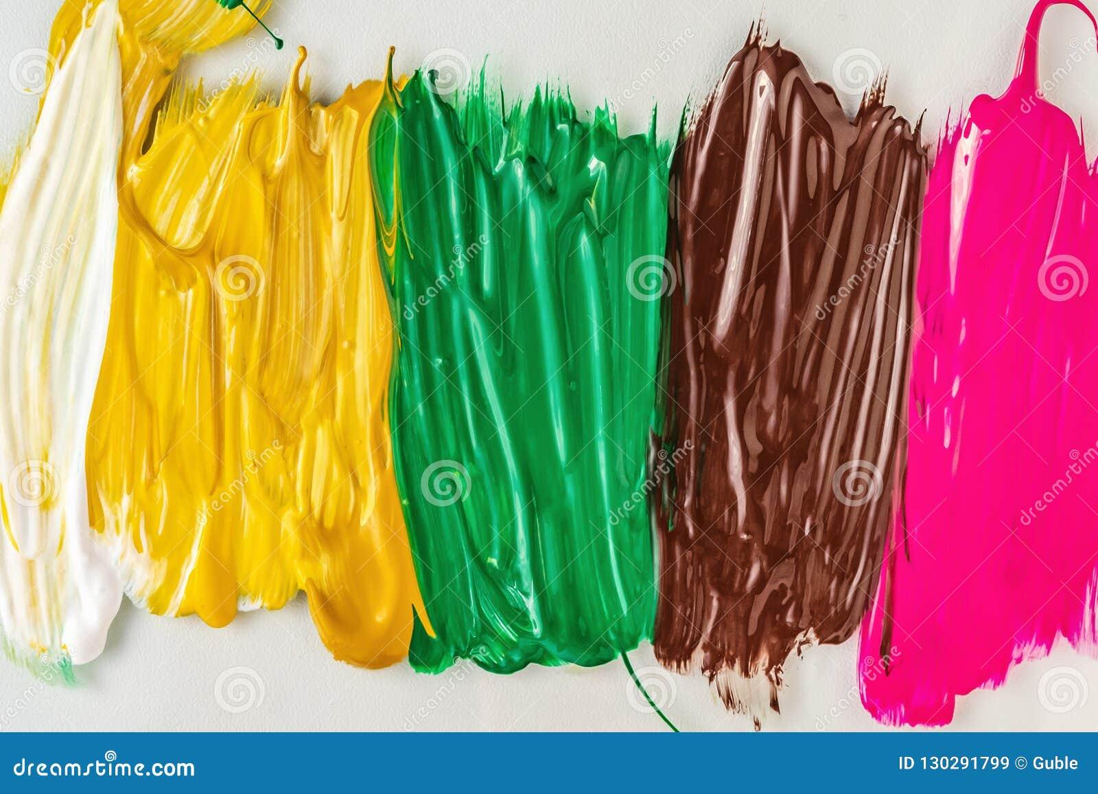 Pintura acrílica abstraia o fundo Textura de pinturas multi-coloridas