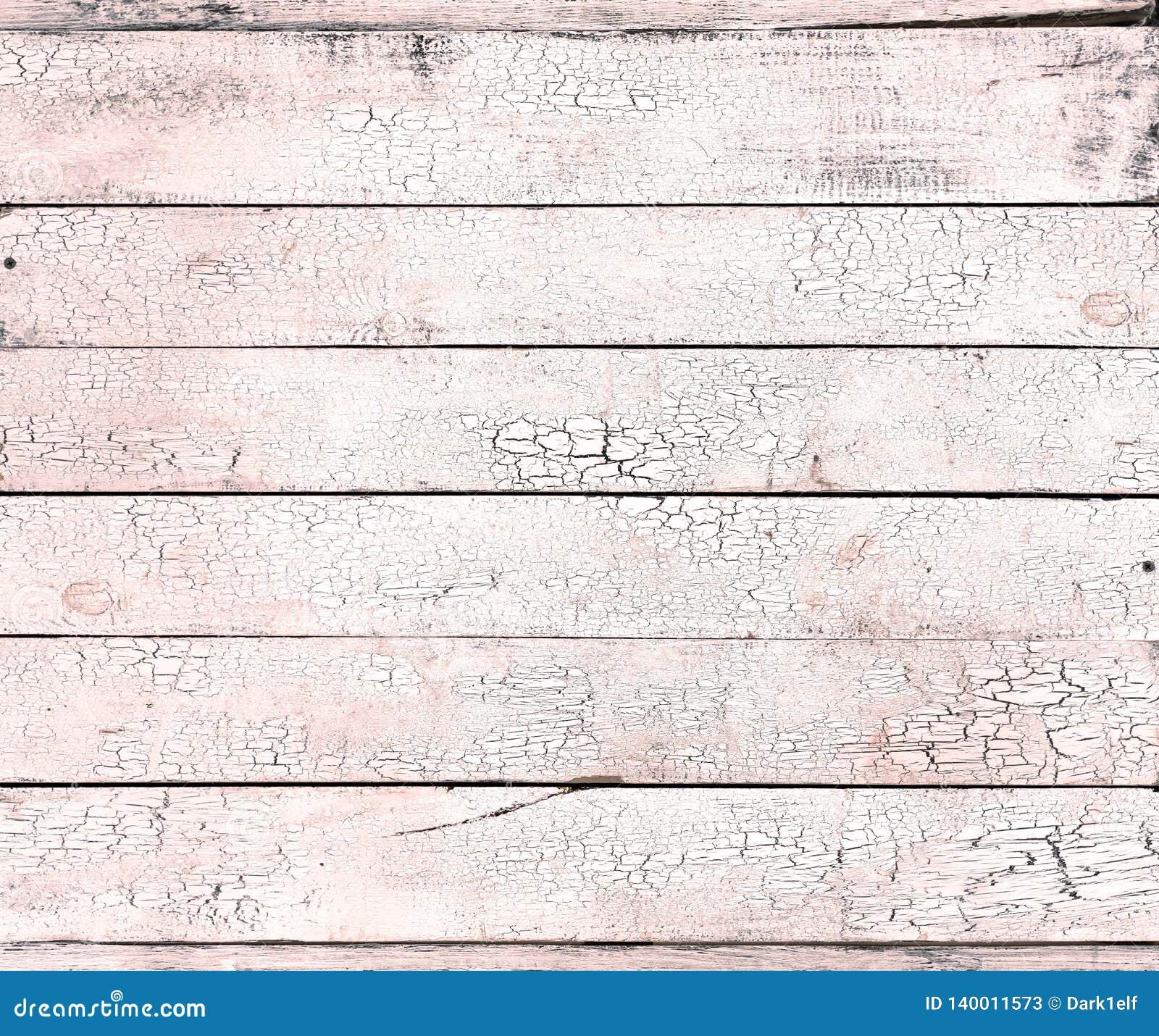 Pintura agrietada en textura lamentable de vida del viejo fondo de madera coralino de la luz