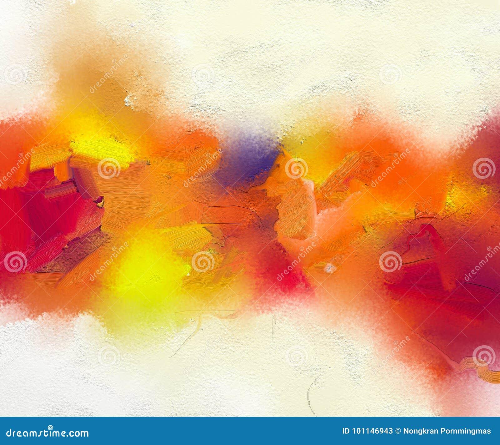 Pintura al óleo colorida abstracta en textura de la lona