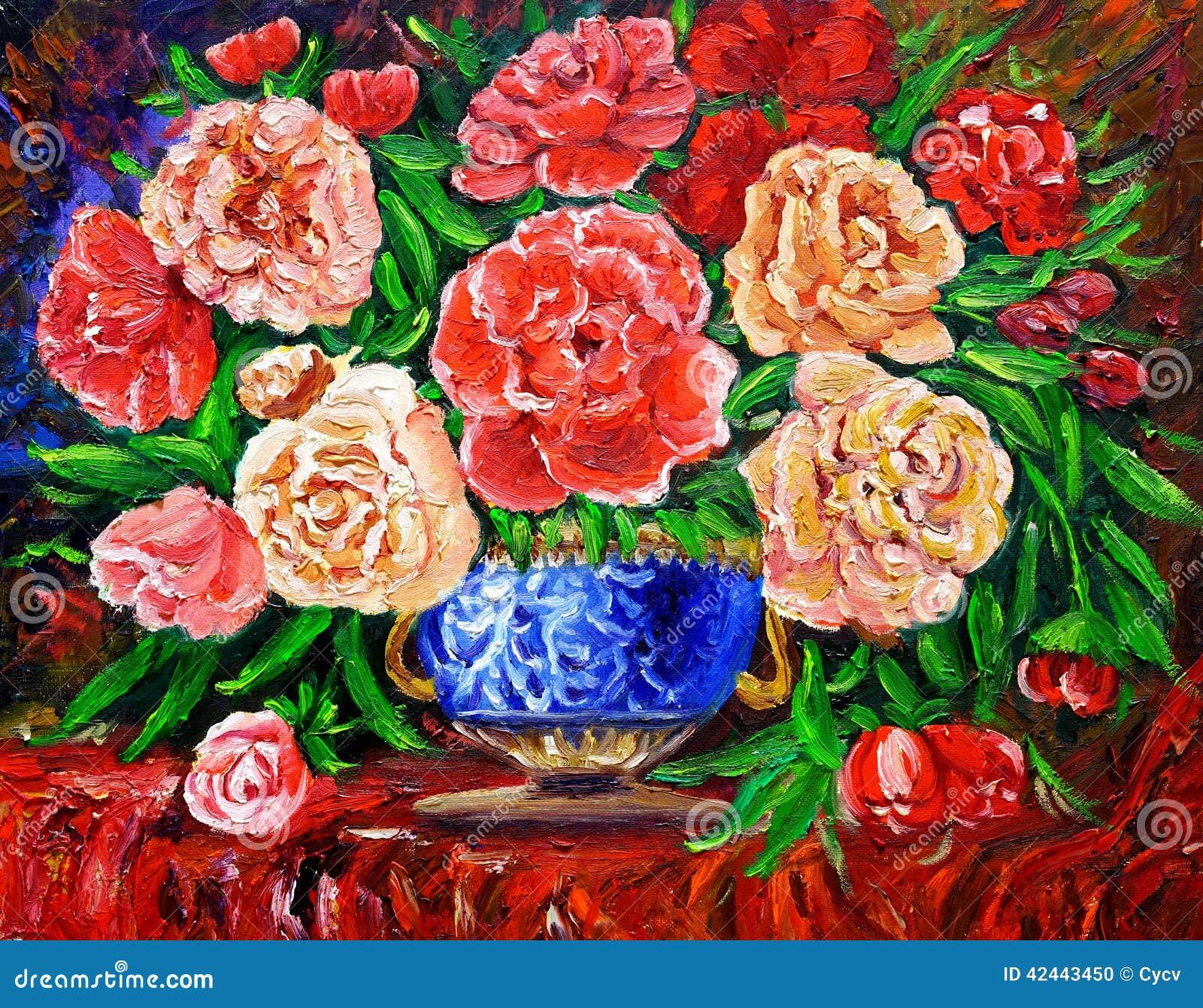 Pintura al óleo - Rose