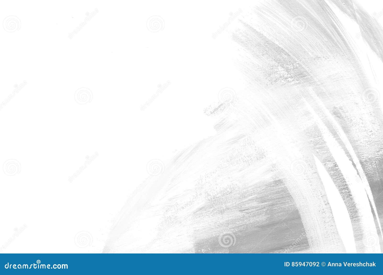 Pintura branca e cinzenta abstrata do fundo Fundo do Grunge Pinceladas da pintura Arte moderna Arte contemporânea