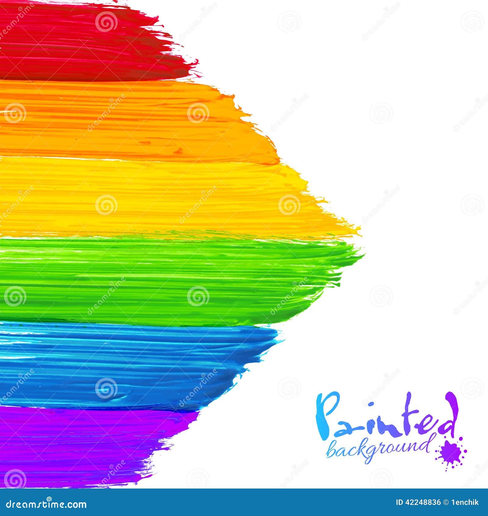 A pintura brilhante do arco-íris afaga o fundo da seta