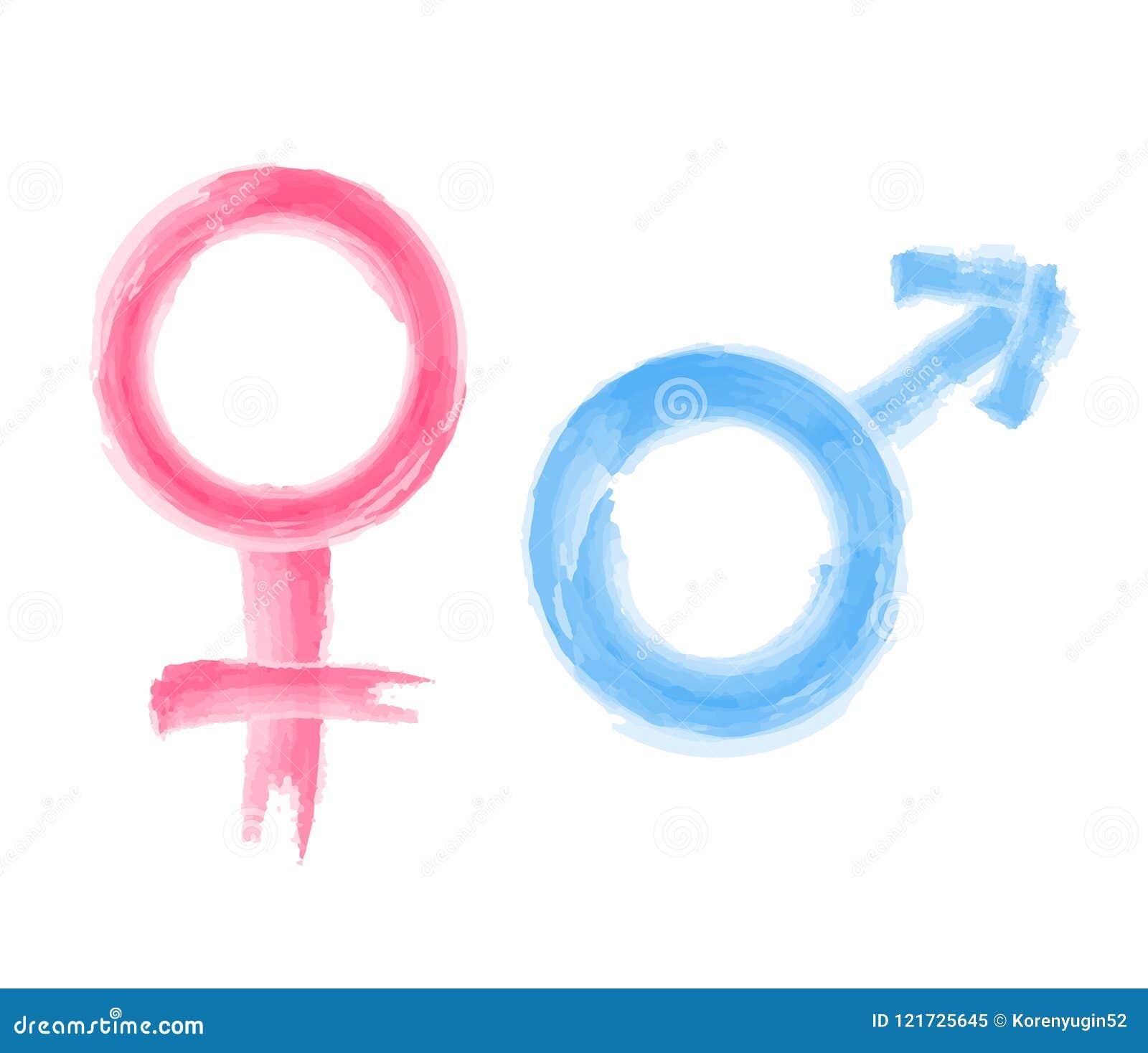 Pintura Da Aquarela Do Símbolo Do Homem E Da Mulher 6e80ee25795