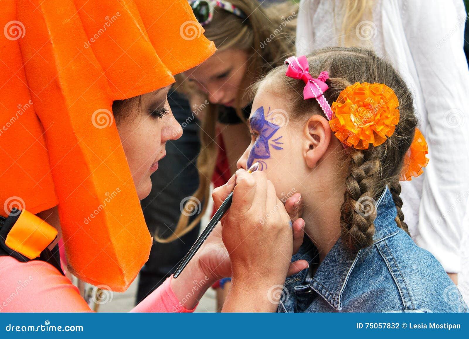 Pintura da cara das crianças