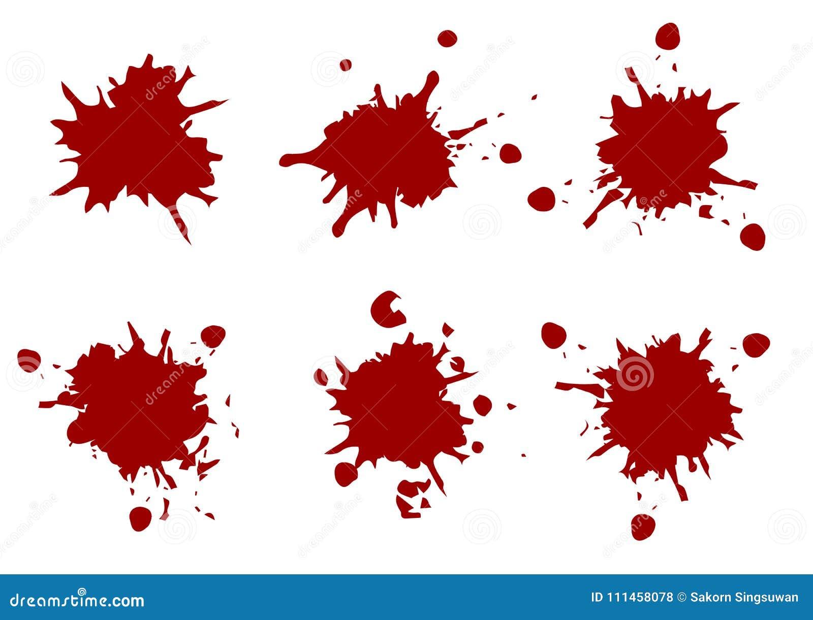 A pintura da cor vermelha do vetor chapinha, chapinha a coleção do bloco, illustr