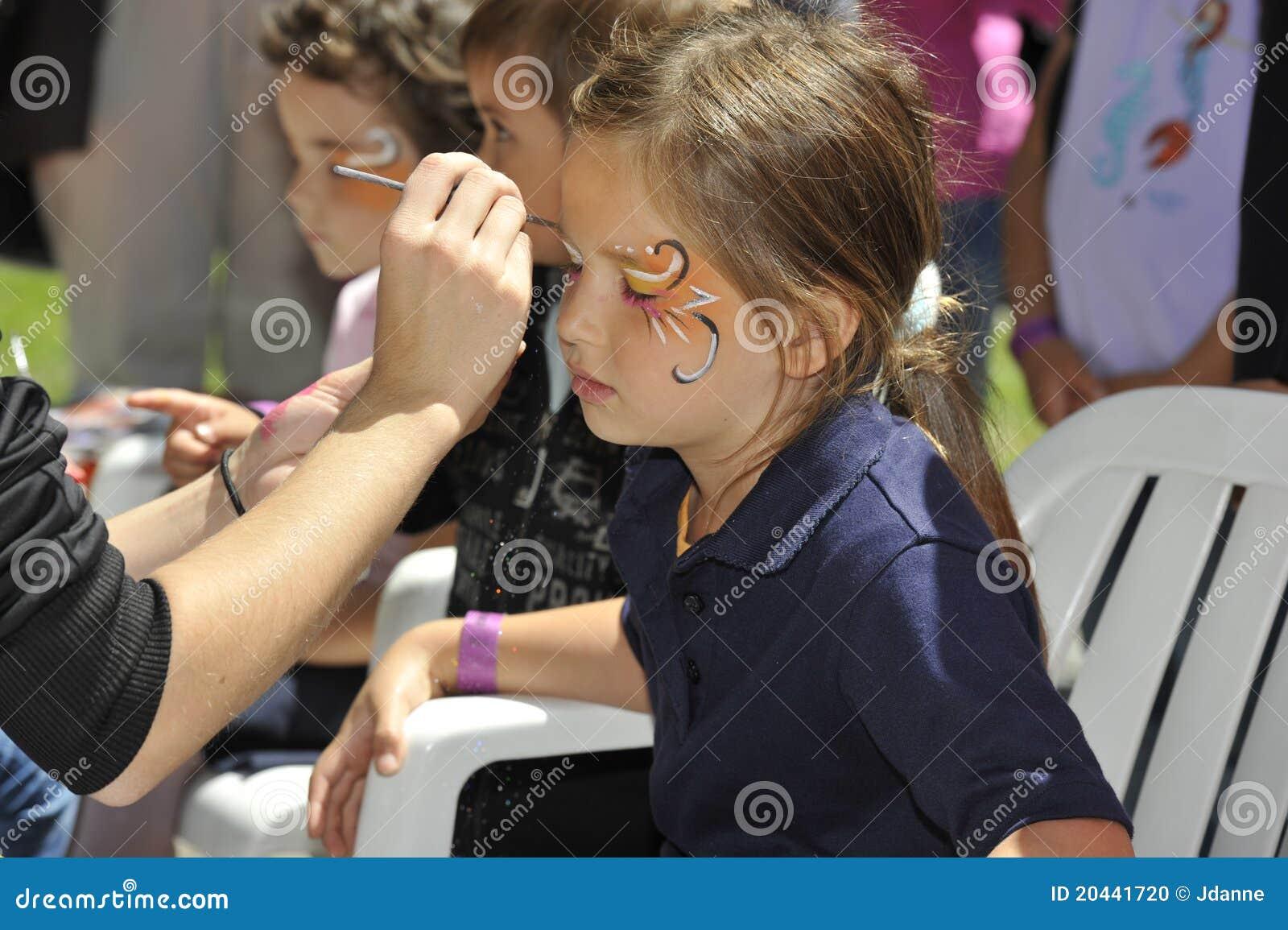 Pintura da face das crianças