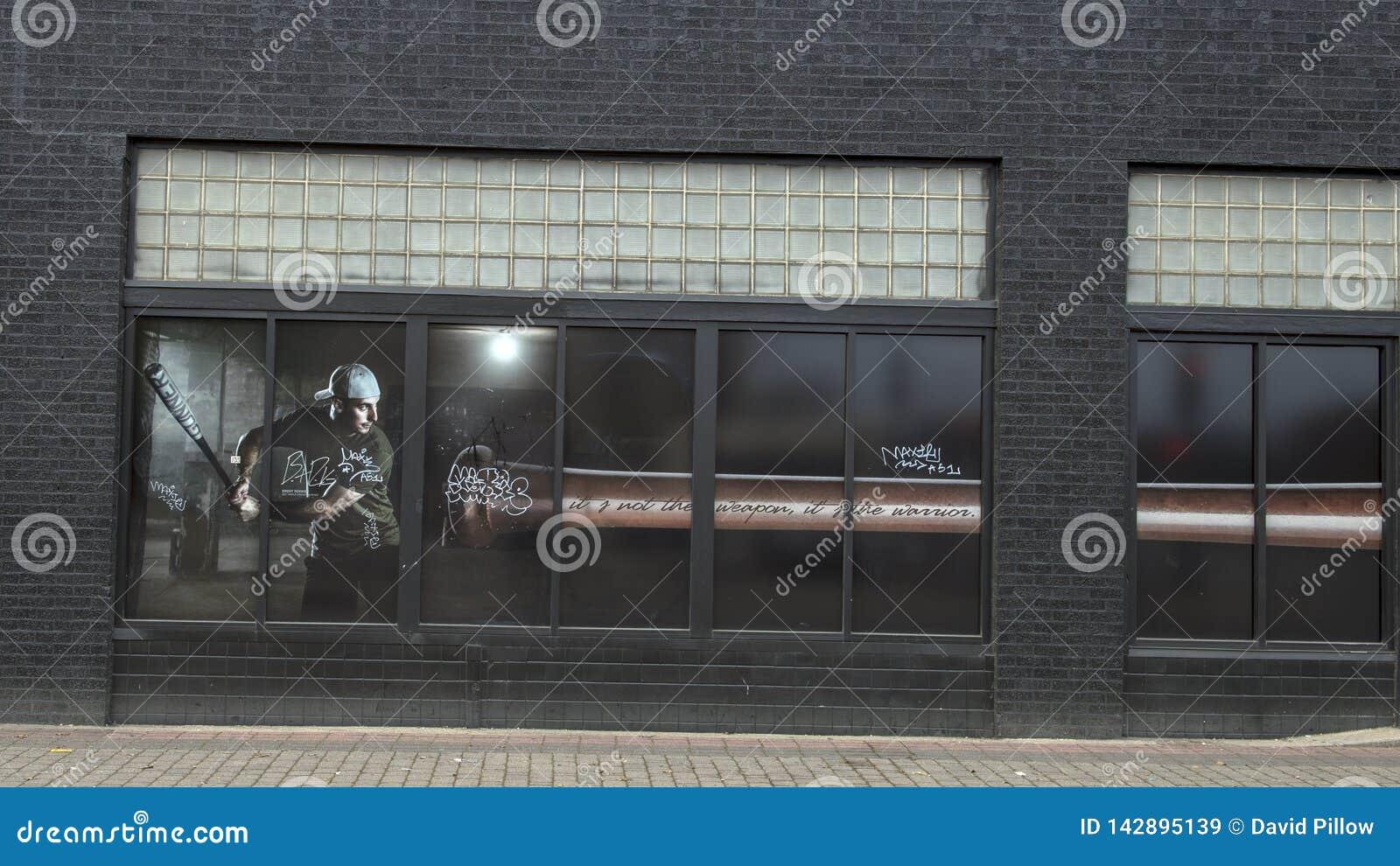 Pintura da janela em Ellum profundo que caracteriza o Triple Crown Winnter Brent Rooker da confer?ncia de Southweastern