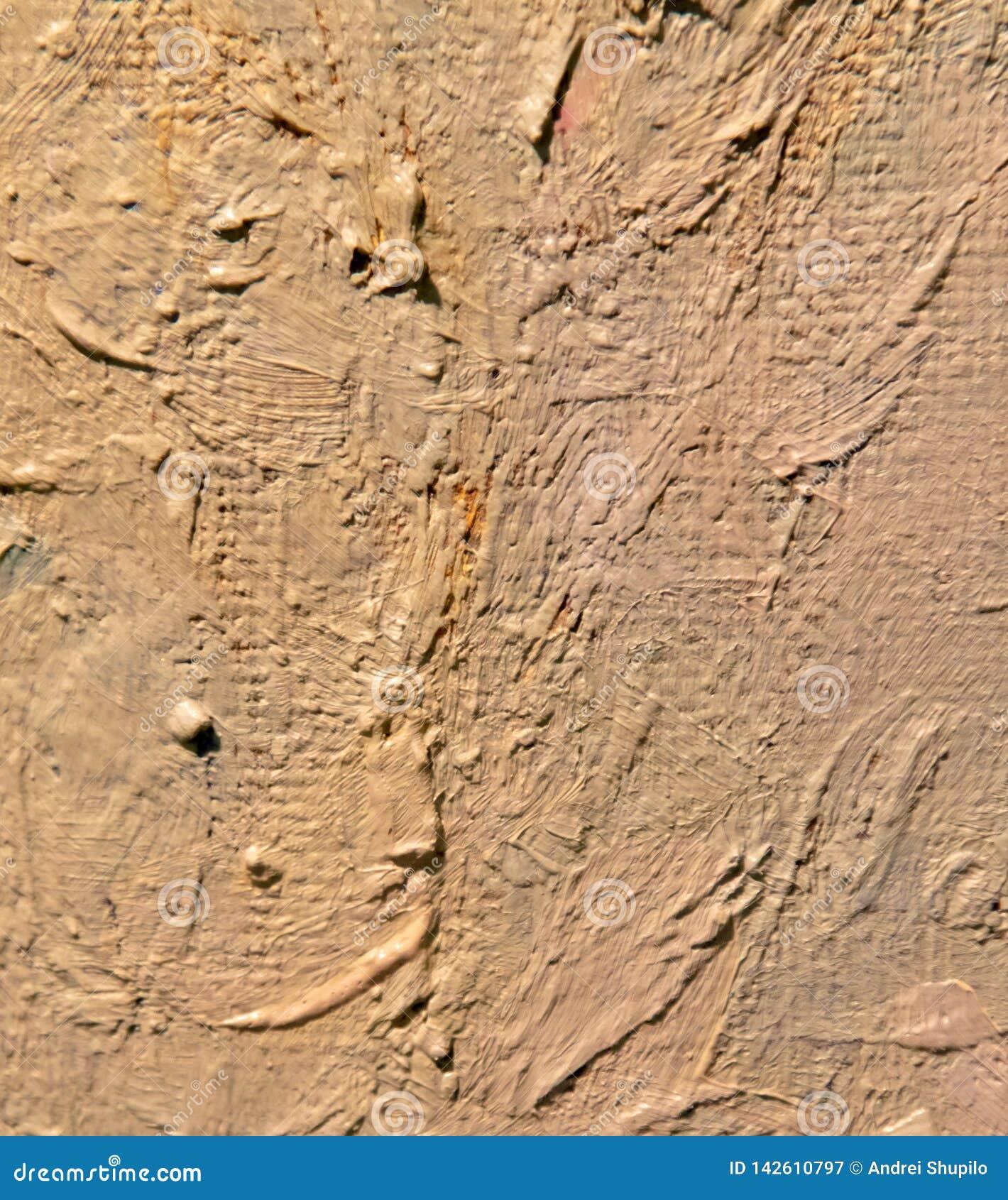 Pintura de óleo na lona como o fundo abstrato