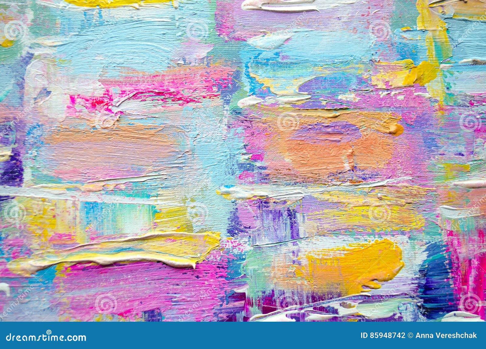 Pintura de acr lico dibujada mano fondo del arte abstracto pintura de acr lic - Peinture carre couleur ...