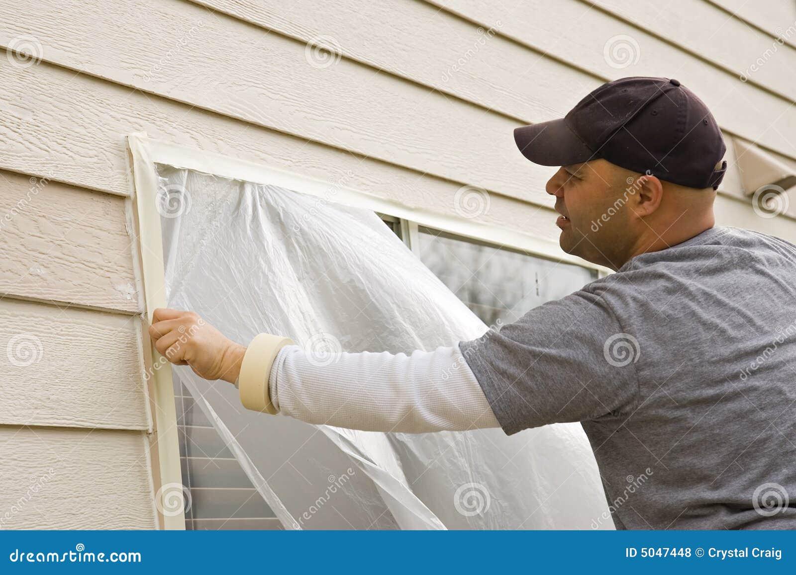 Pintura de casa exterior fotos de stock royalty free for Pintura exterior de casas