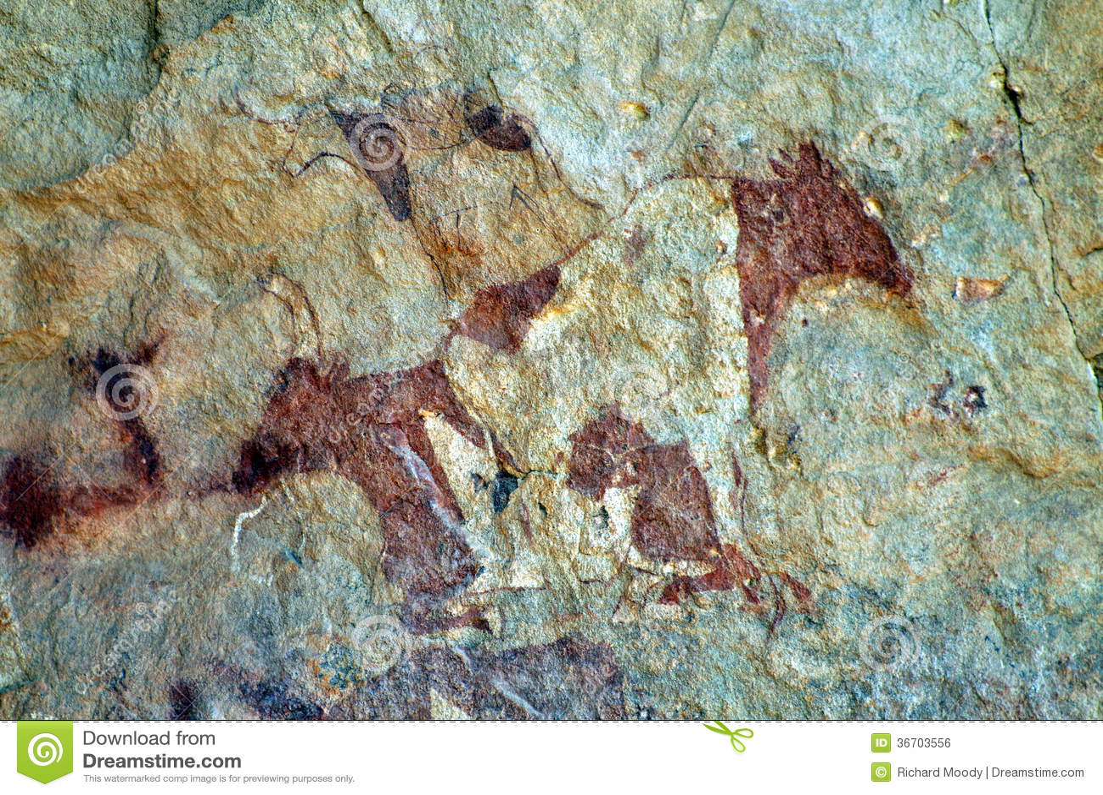 Pintura de cuevas del ganado
