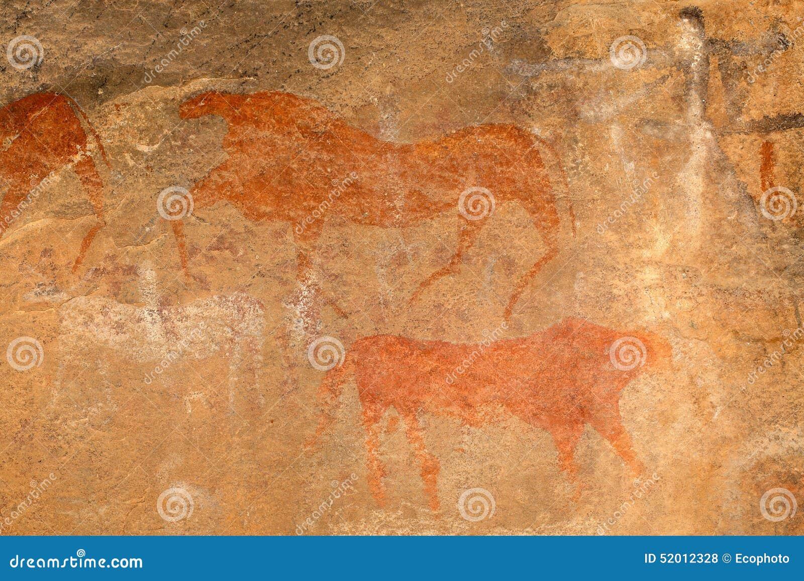 Pintura de la roca de los bosquimanos