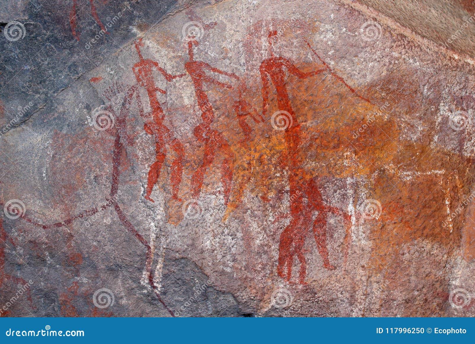 Pintura de la roca de los bosquimanos - Suráfrica