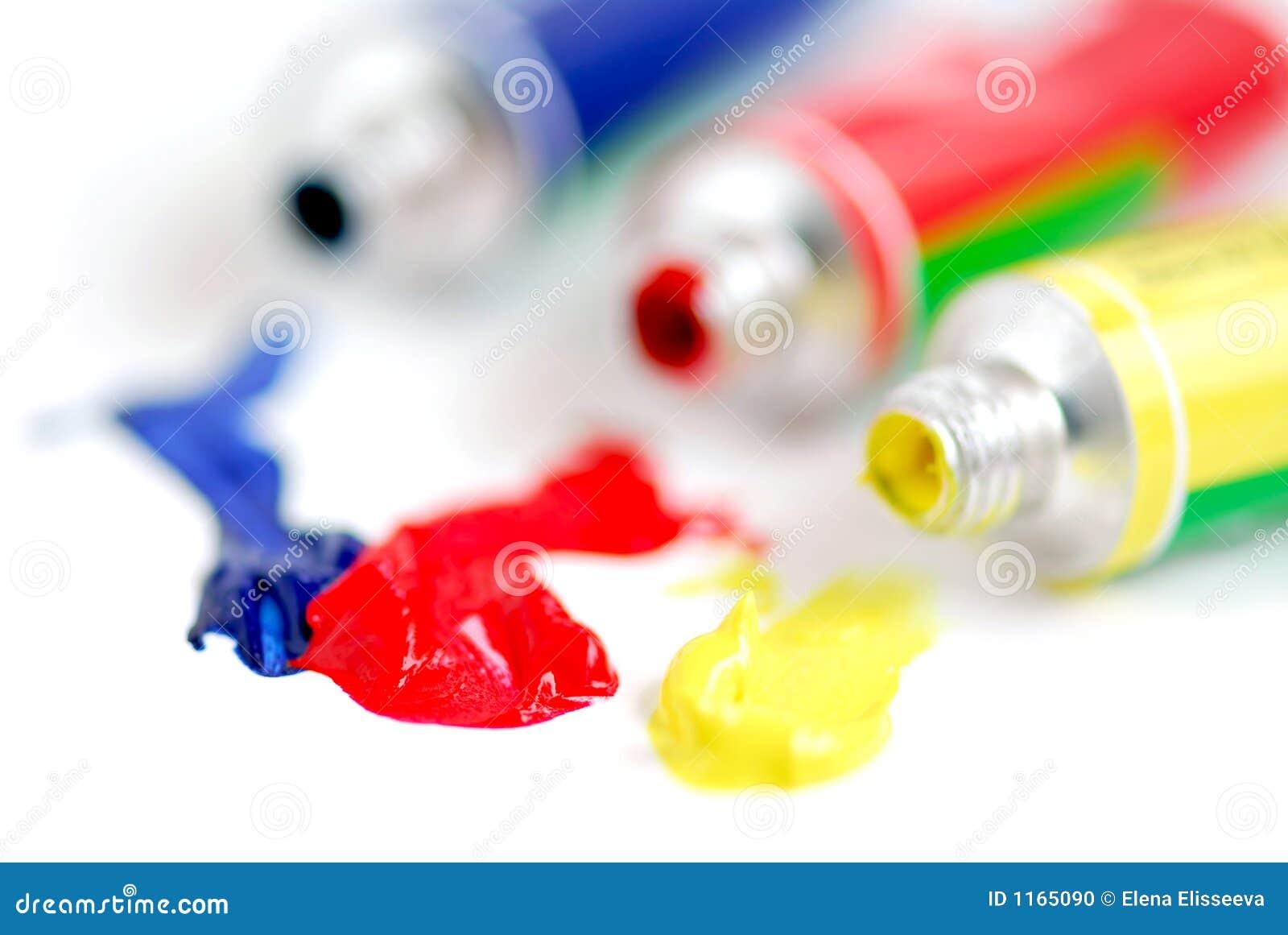 Pintura de los colores primarios foto de archivo imagen for Los colores de pintura