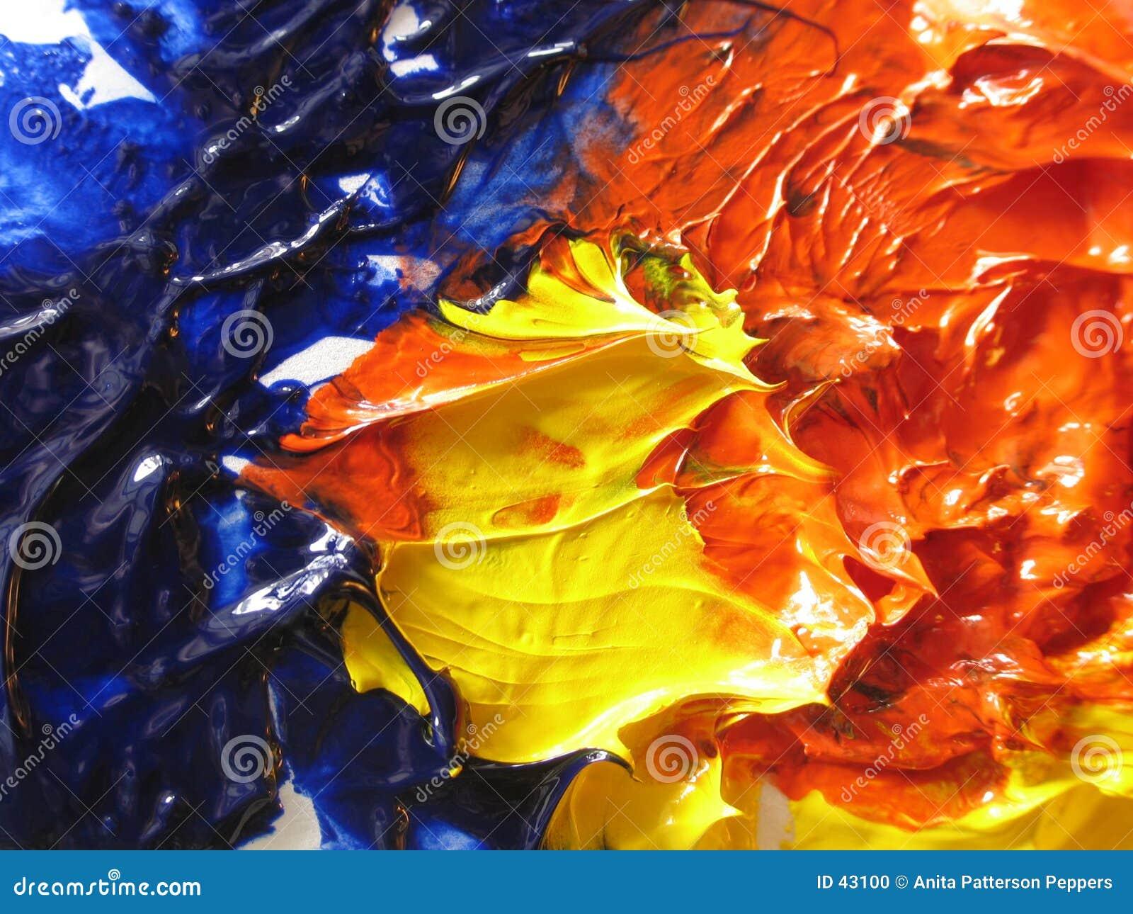 Download Pintura de petróleo foto de archivo. Imagen de color, arte - 43100