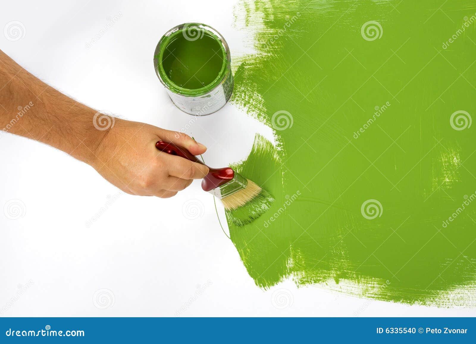Pintura de un verde de la pared foto de archivo imagen for Pintura pared verde