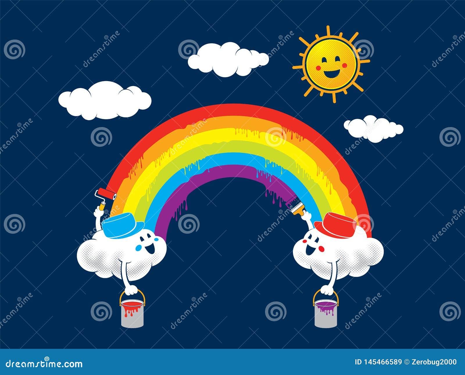 Pintura del arco iris
