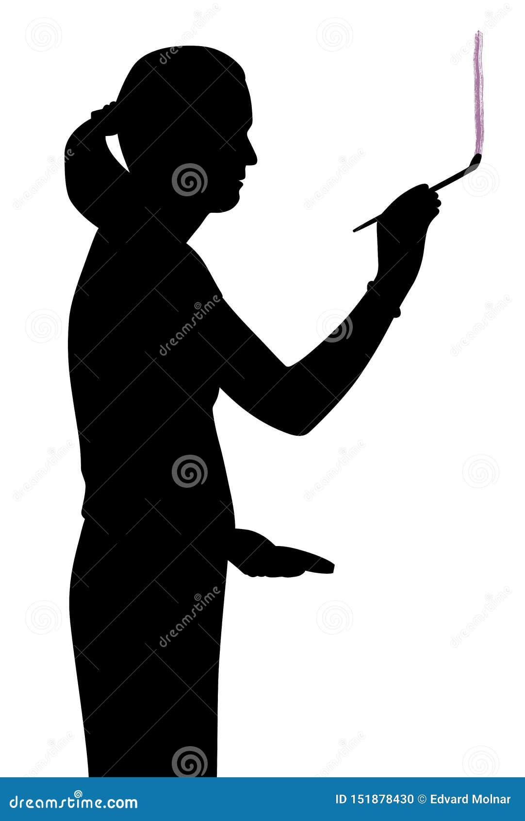 Pintura del artista de la mujer