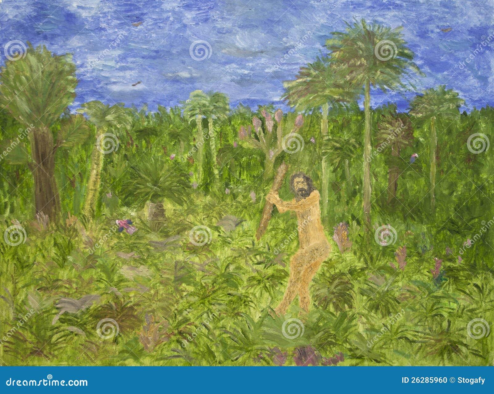 Pintura del hombre prehistórico