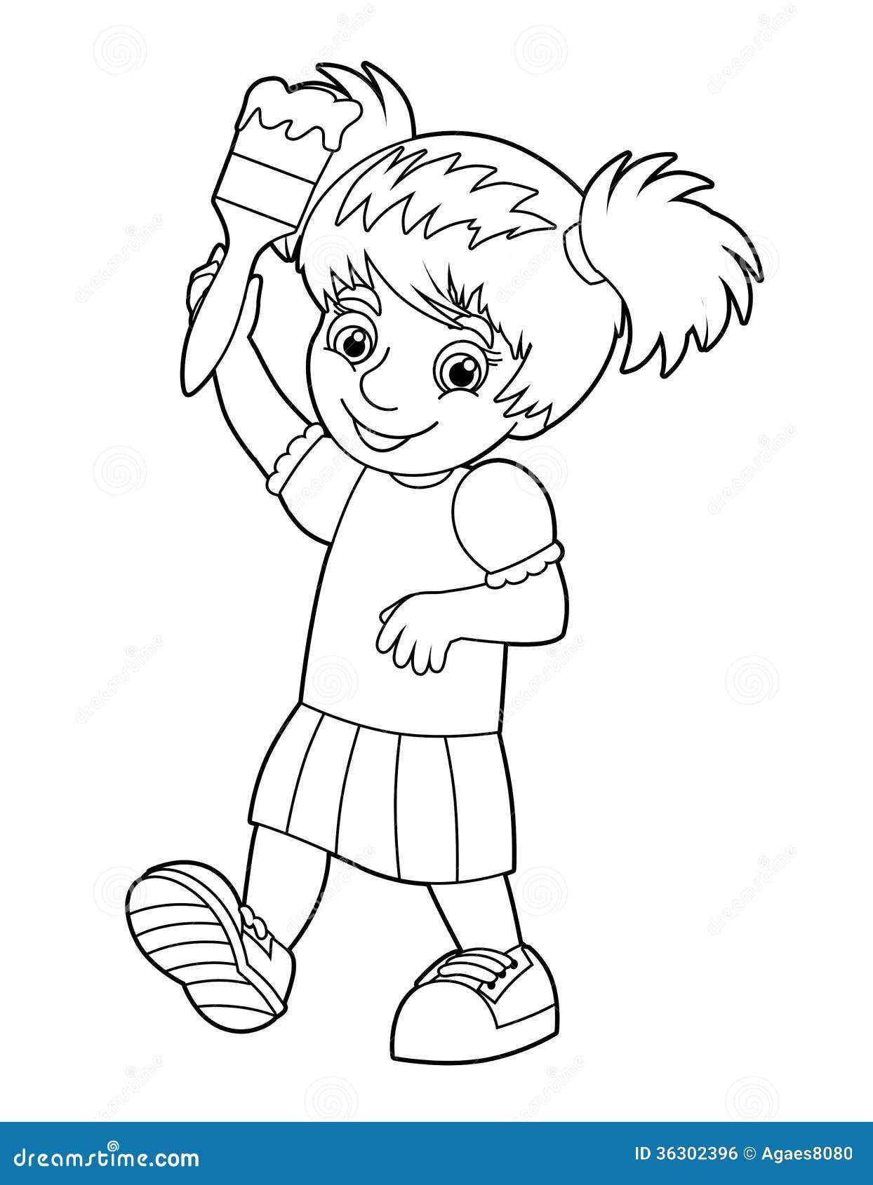 Pintura del niño stock de ilustración. Ilustración de pintado - 36302396