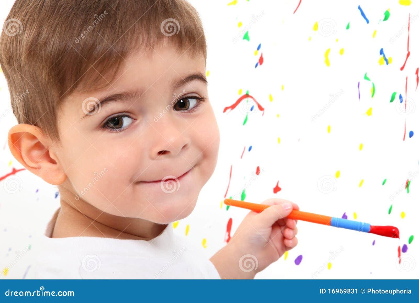 Pintura del niño del muchacho