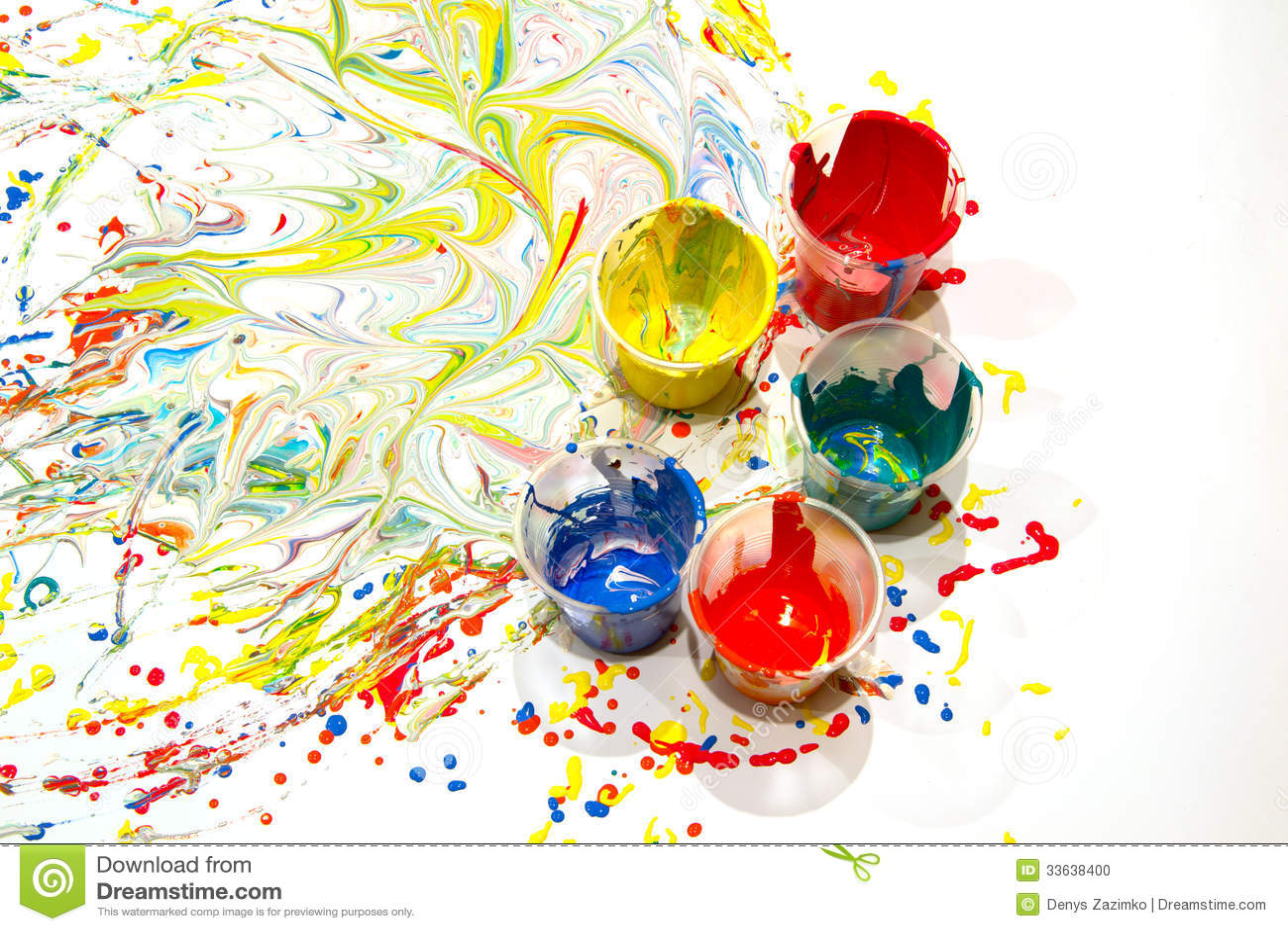 Pintura derramada foto de archivo imagen de tinta color - Colore de pintura ...
