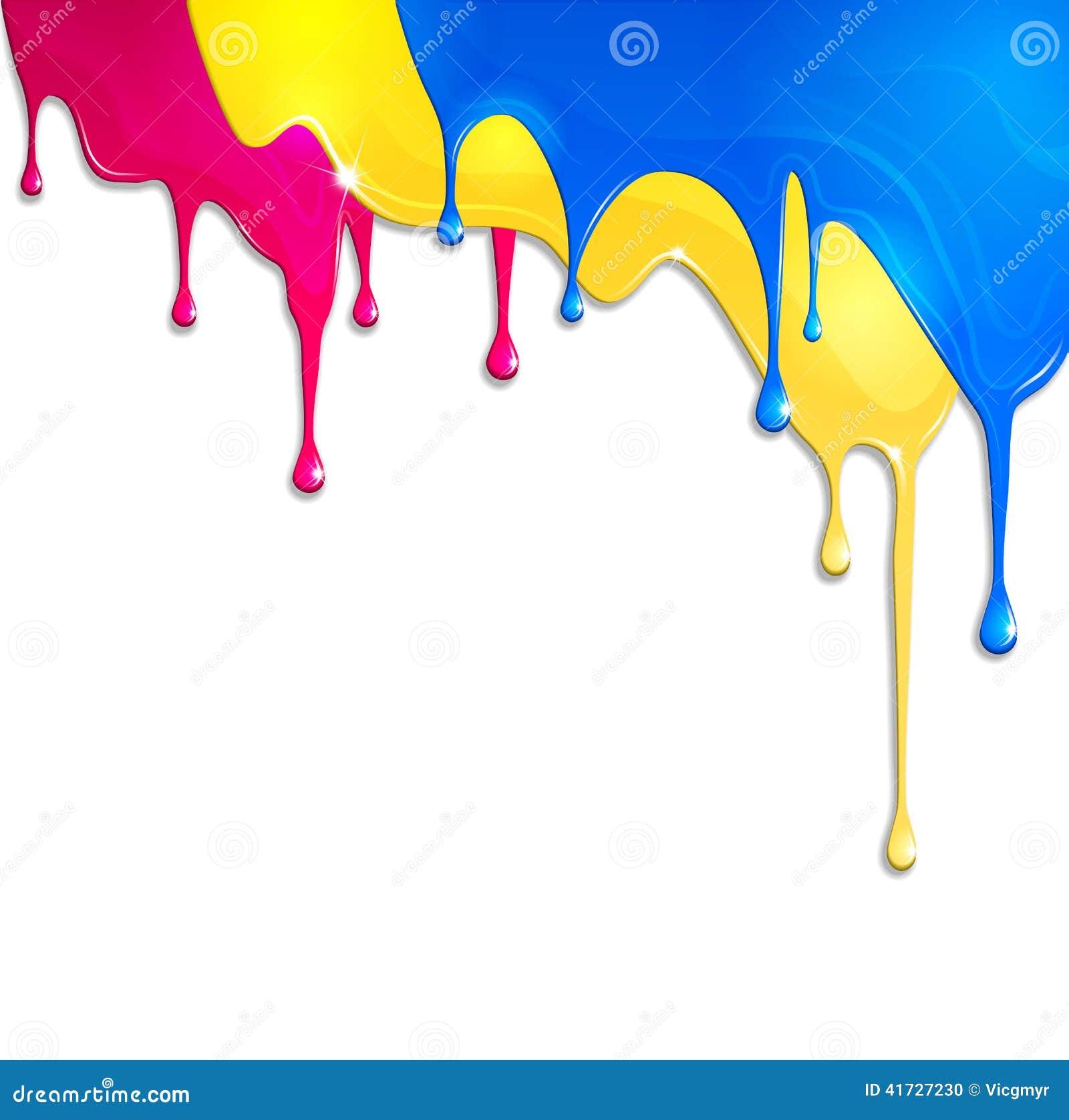 pintura derramada