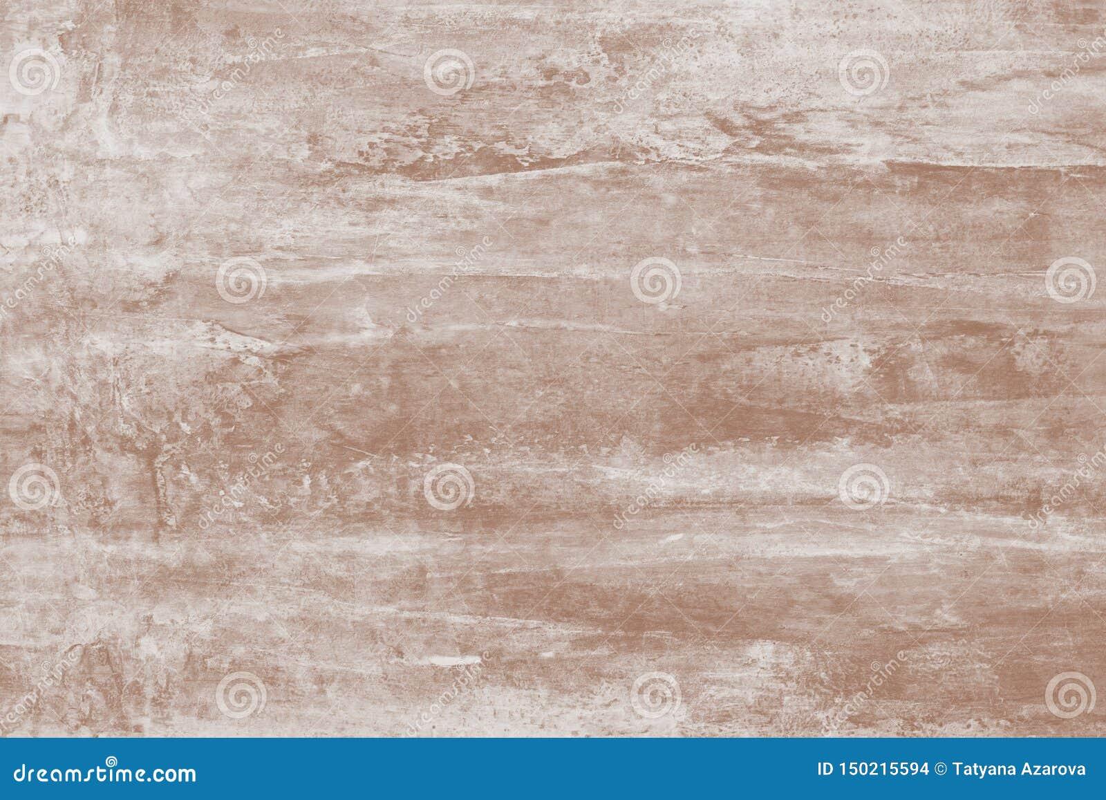 Pintura, desenho Teste padrão abstrato da pintura de claro - marrom com manchas Fundo marrom macio da lona Ilustração com manchas