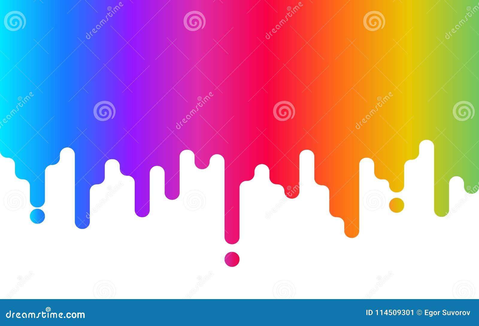 Pintura do gotejamento Fundo do arco-íris Contexto colorido abstrato no branco Projeto da cor para o Web site, cartão Vetor
