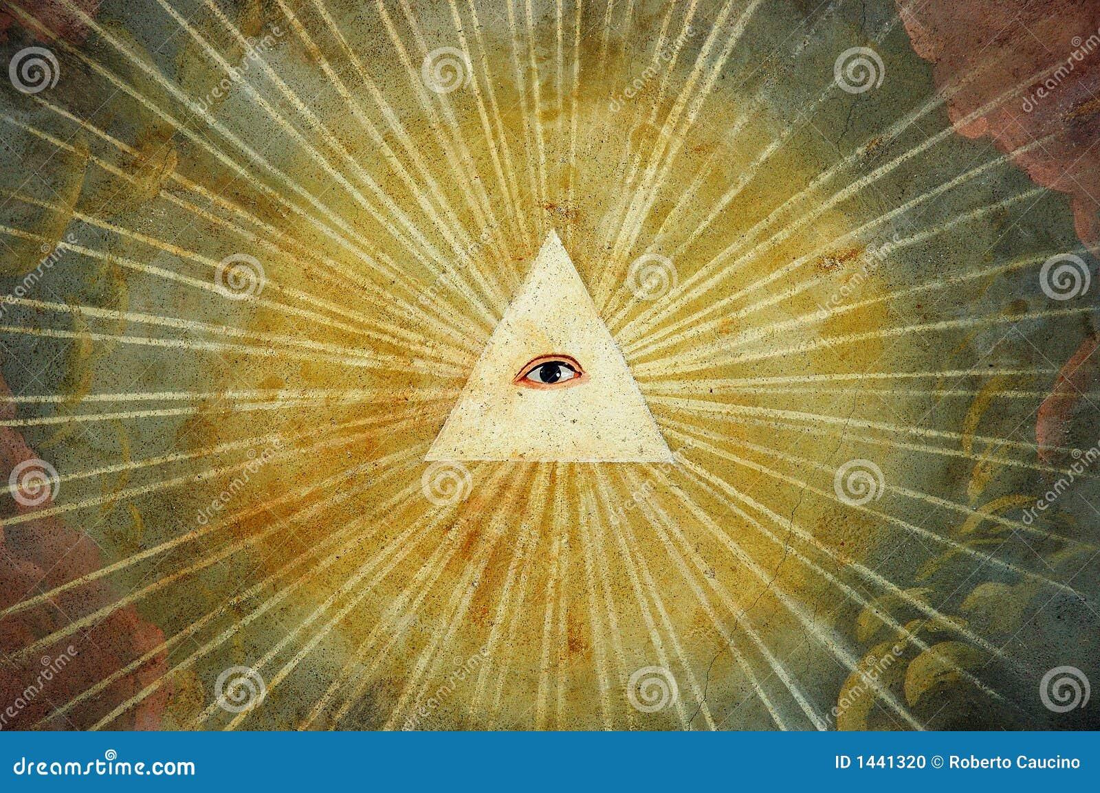 Pintura do olho do deus