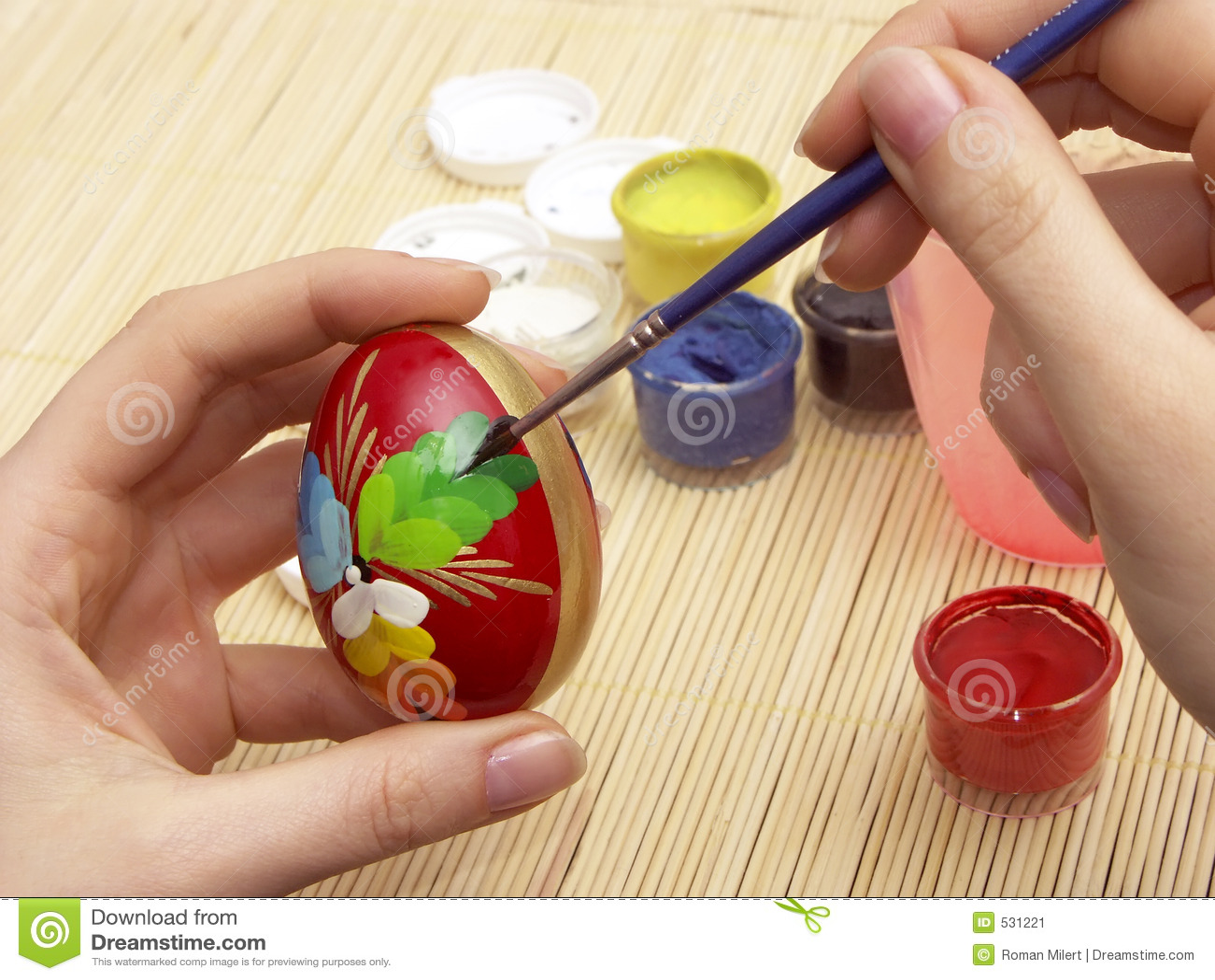 Pintura do ovo de Easter