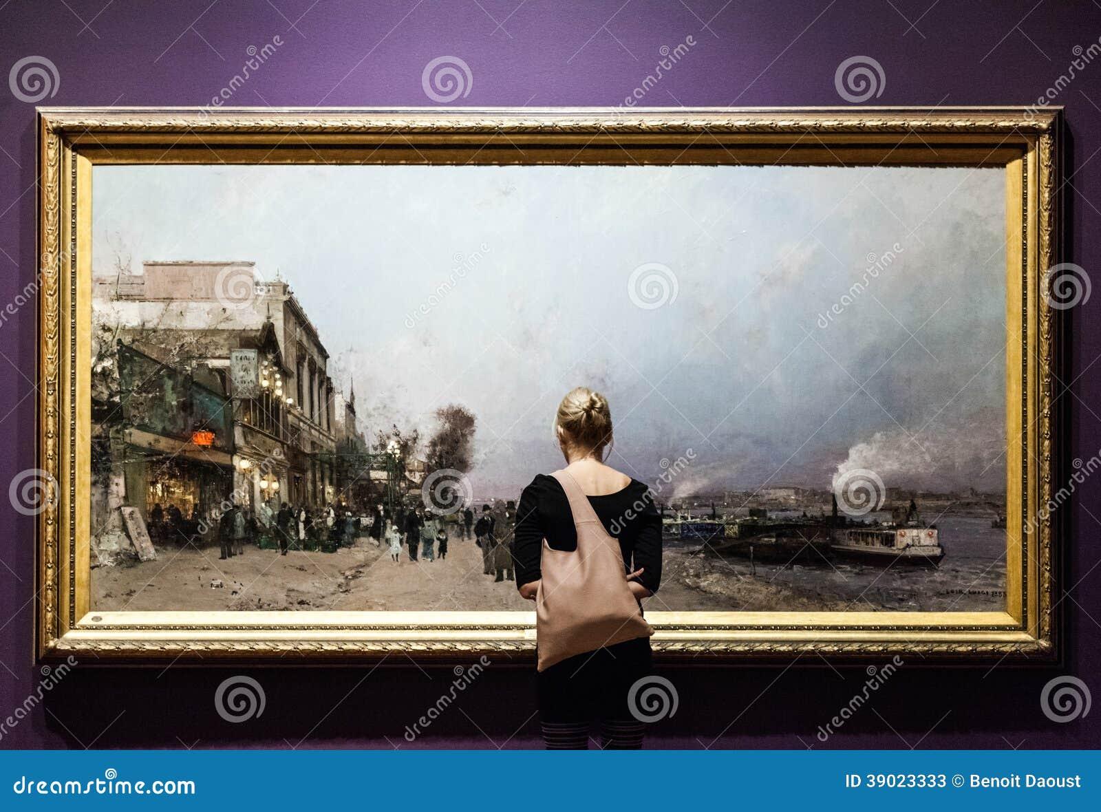 Pintura enorme no museu de belas artes de Montreal