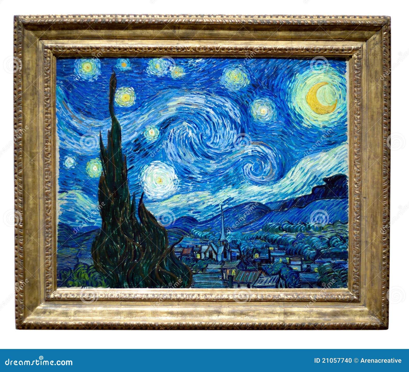 Pintura estrelado da noite por Vincent