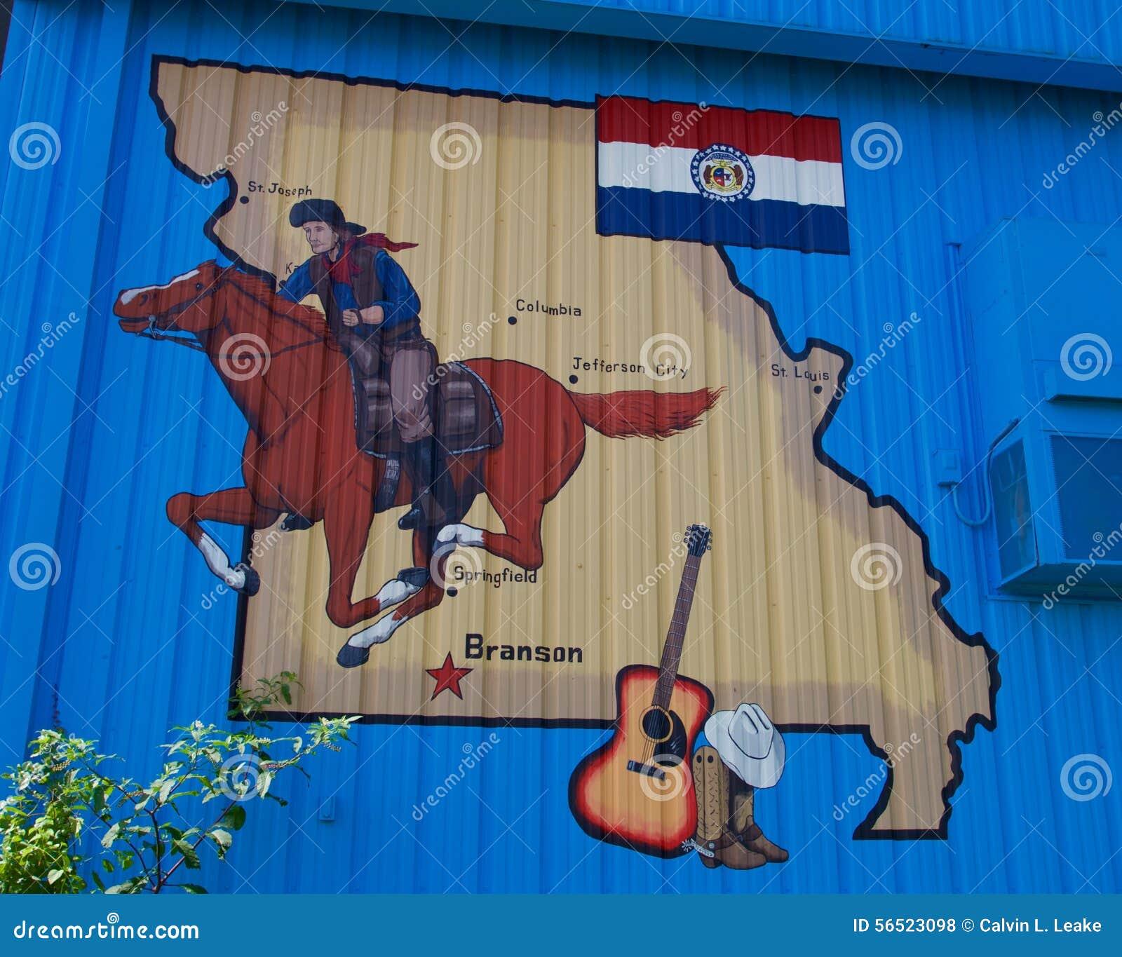 Pintura historia de Branson, Missouri